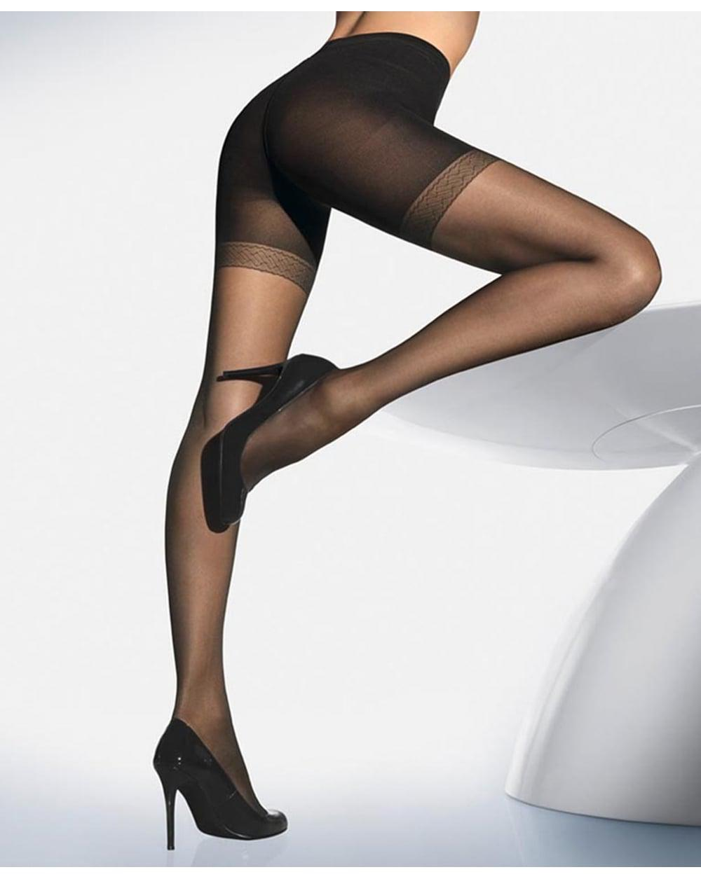 47c1b0a03 Lyst - Wolford Synergy 20 Push Up Tights in Black