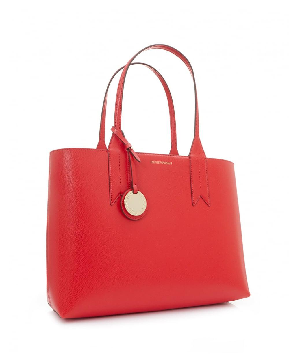 27b471355986 Lyst - Emporio Armani Frida Large Eco Leather Shopper in Red