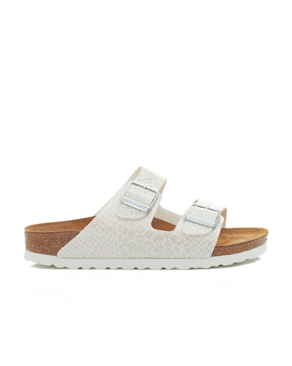 4e1275eaf16 Birkenstock Arizona Narrow Two Strap Sandals in White - Lyst