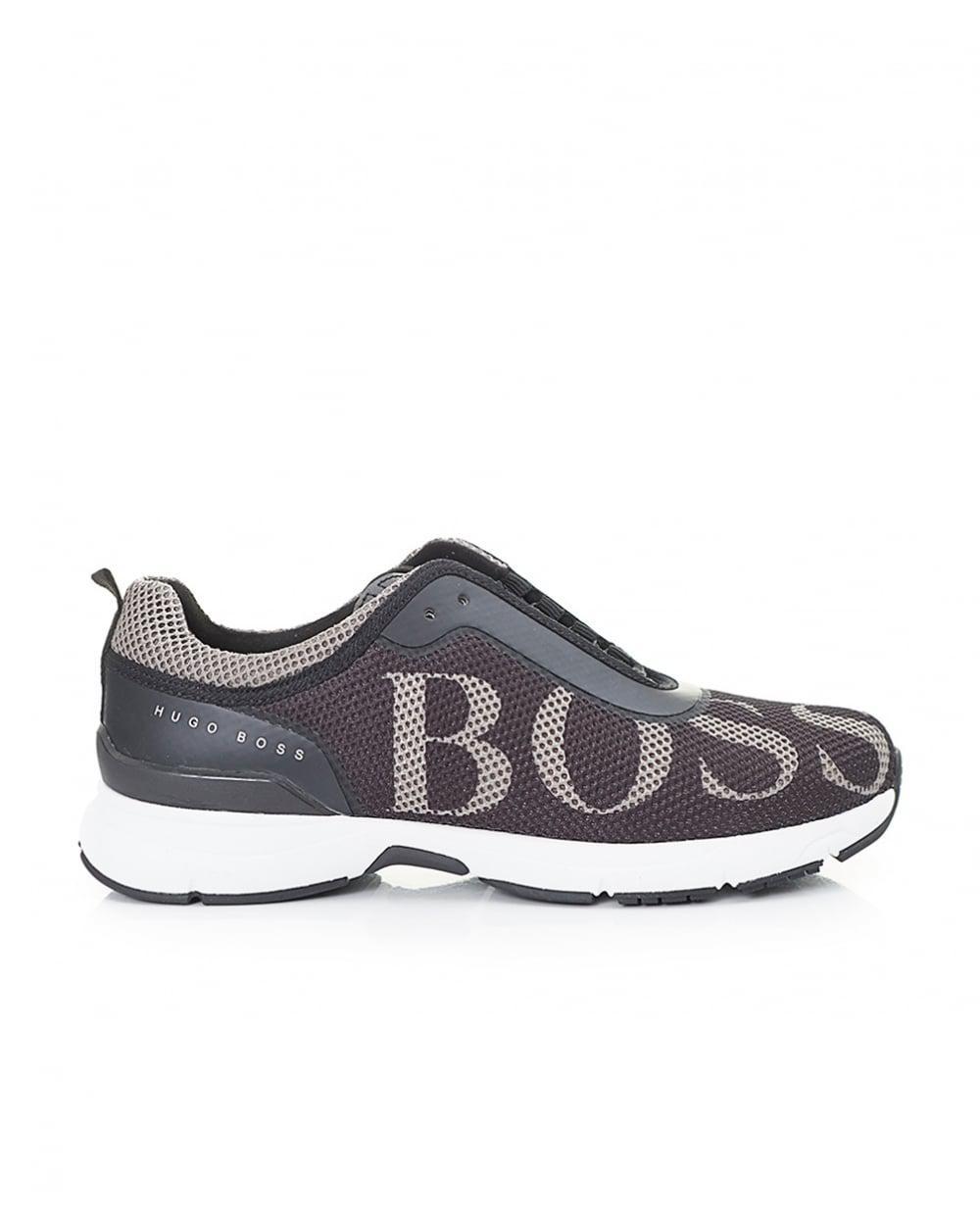 BOSS ATHLEISURE VELOCITY RUNN LOGO - Trainers - black y7WeR4Q9AD