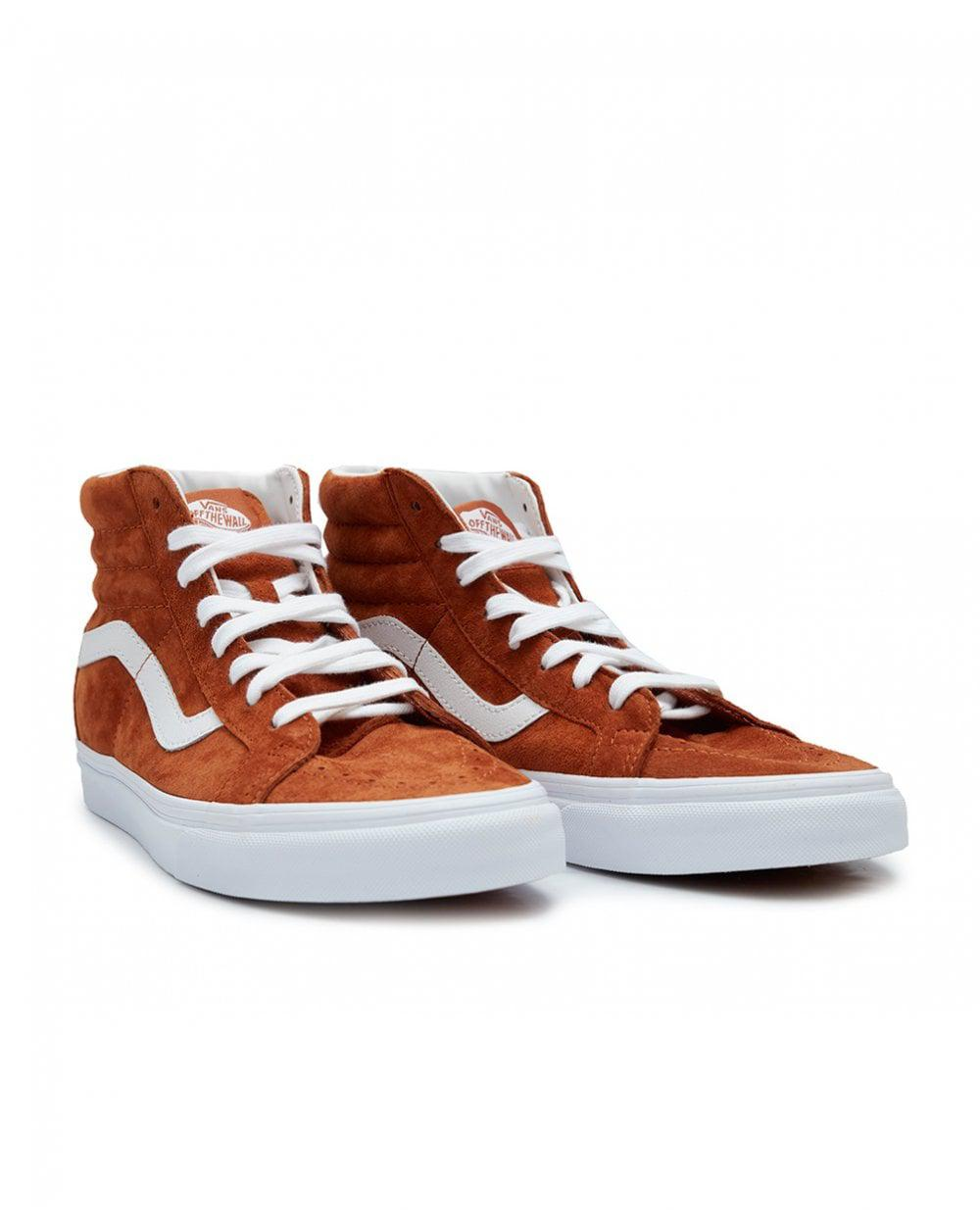 6b09e6afed Vans Skate Hi Re-issue Suede Trainers in Brown for Men - Lyst