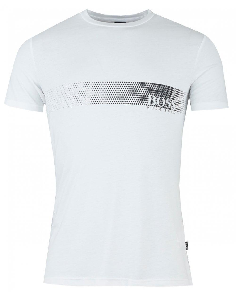 709b5d9c BOSS by Hugo Boss Slim Fit Horizontal Logo in White for Men - Lyst