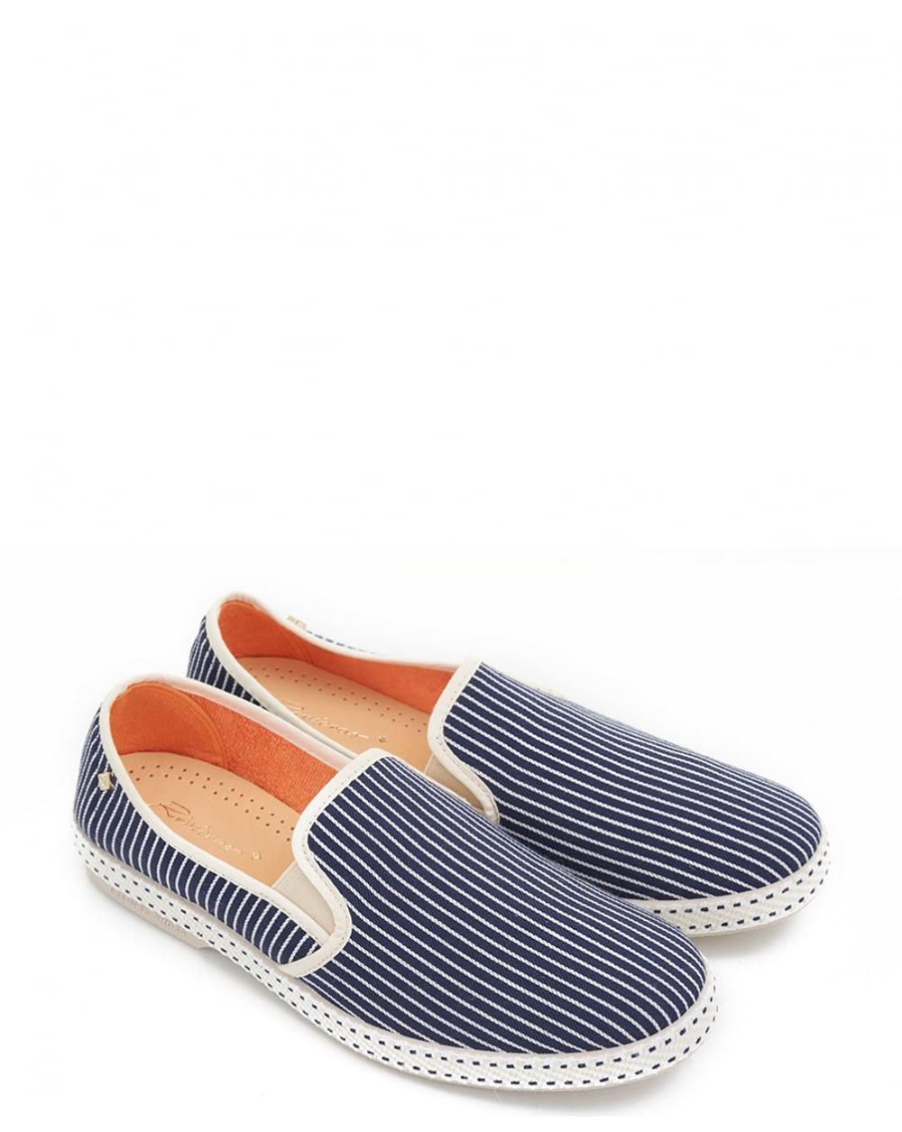 RIVIERAS Men's Jean-Raye Striped Slip-On Sneakers A1yK80
