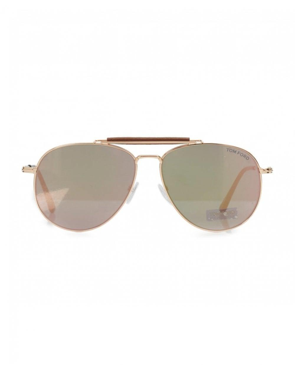 ddef394f5bd Tom Ford Sean Oversized Mirrored Aviators in Metallic for Men - Lyst