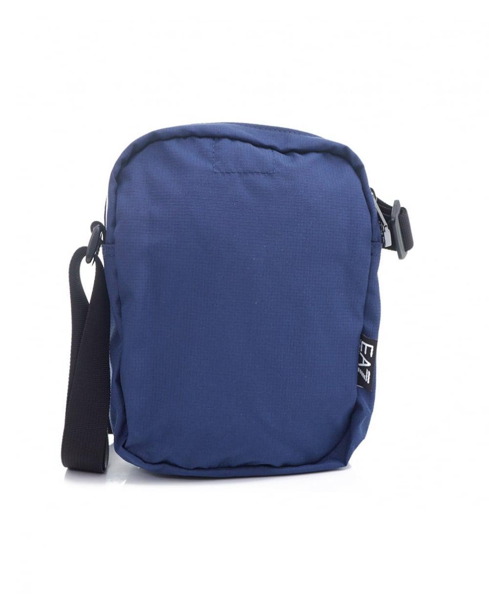 2d2612fcc371 EA7 Train Prime Metallic Logo Pouch Bag in Blue for Men - Lyst