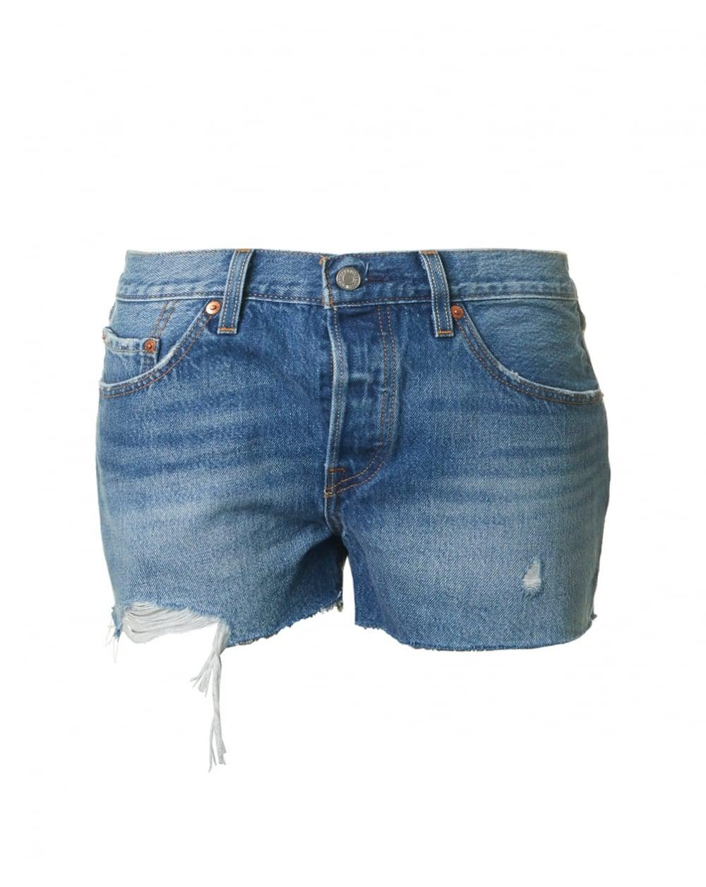 887de7a4 Lyst - Levi's 501 Frayed Hem Shorts in Blue