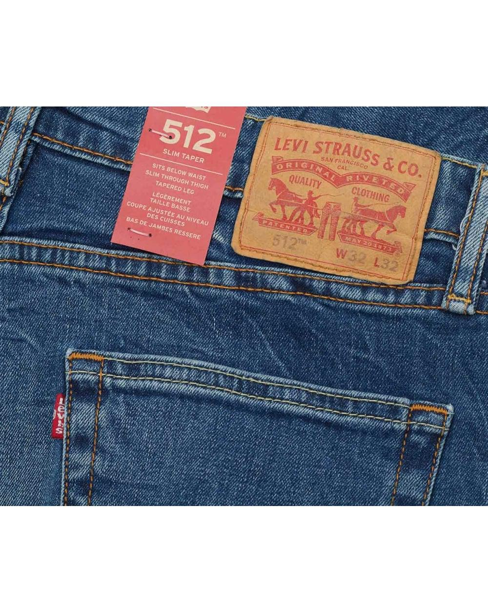 Fit Lyst Jeans Slim 512 For In Taper Blue Levi's Men awZqtW