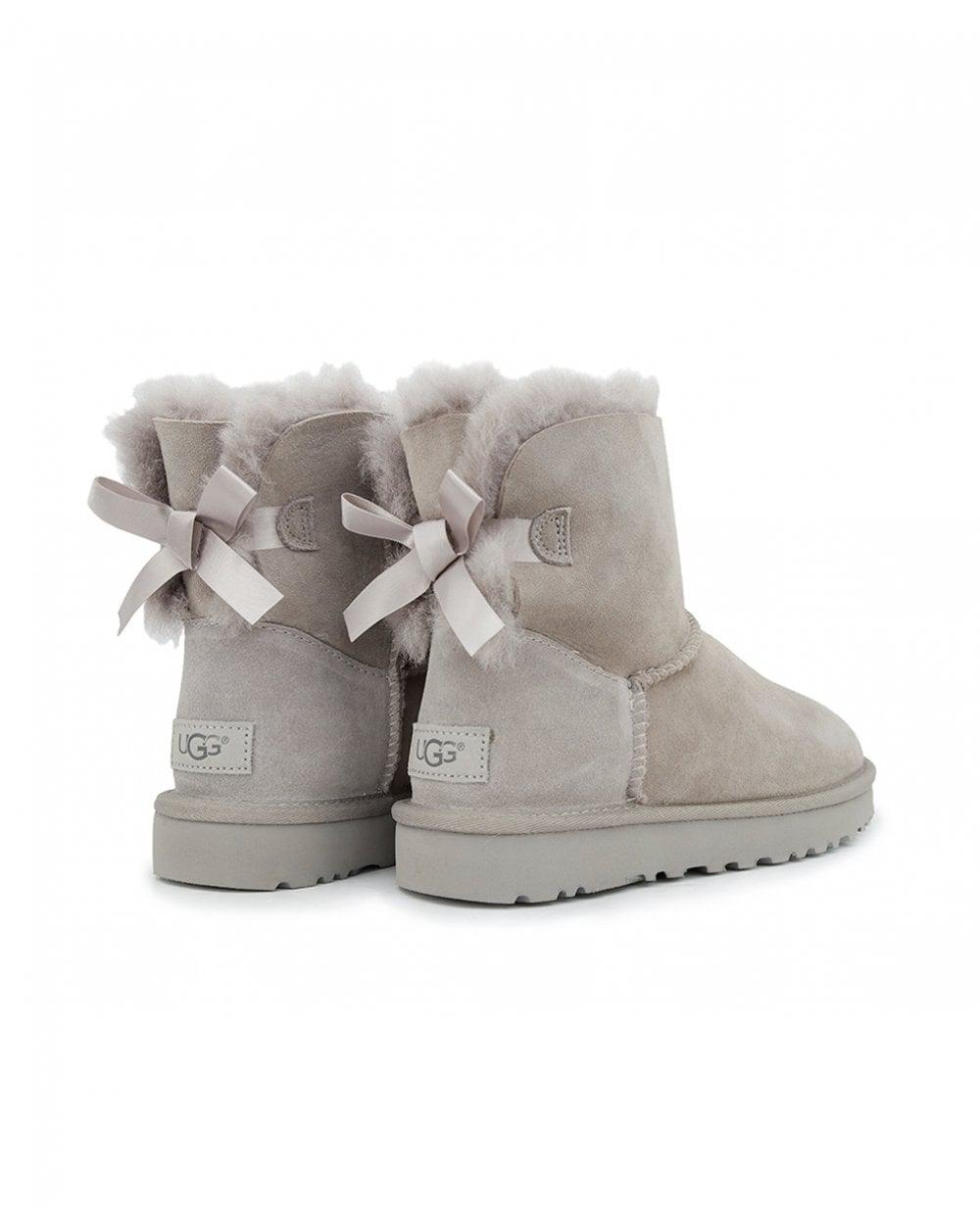 ee542a0e05f Lyst - UGG Mini Bailey Bow Ii Classic Boots in Gray