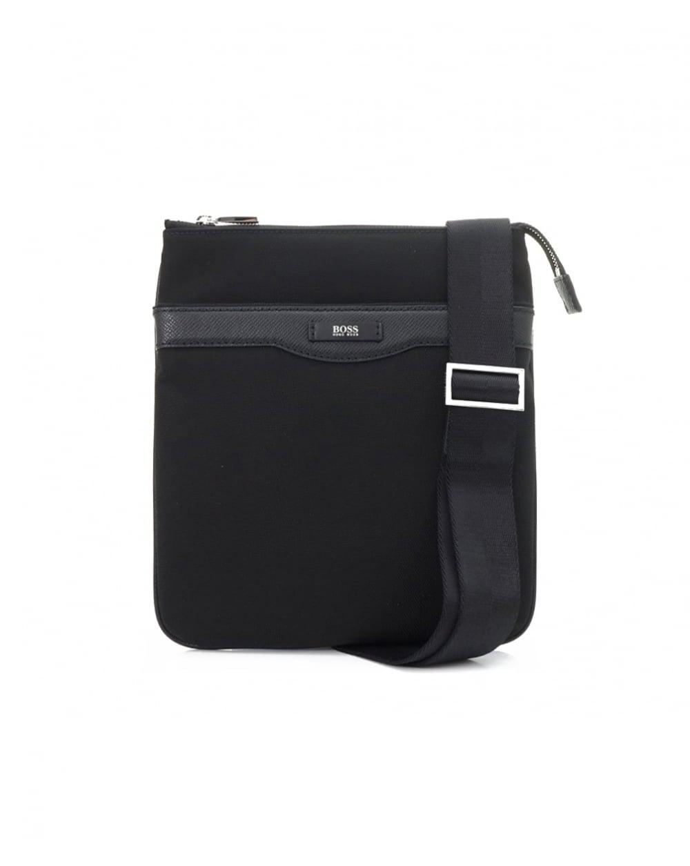 05c8c1225a37 Lyst - BOSS Black Signature Cross Body Pouch Bag in Black for Men