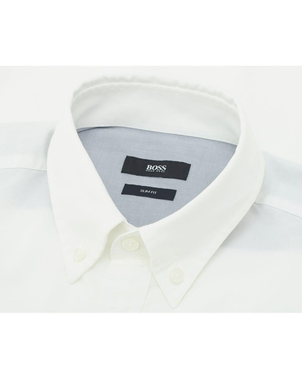 deb1eccbe BOSS Black Rubens Sp4 Slim Fit Shirt in White for Men - Lyst