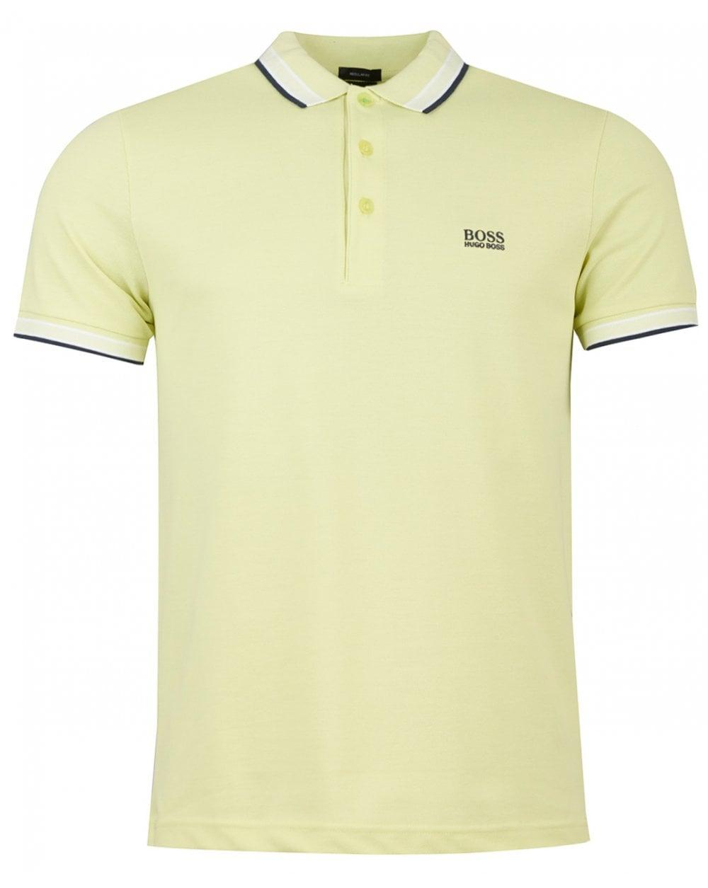 15fdefb4 Lyst - BOSS Paddy Short Sleeved Tipped Polo in Yellow for Men