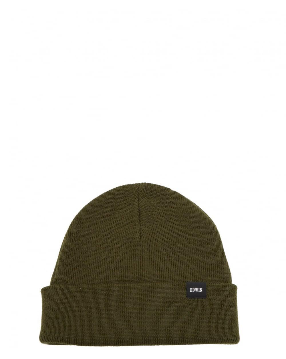 Edwin Watch Cap Beanie Hat in Green for Men - Lyst 19ed571a3301