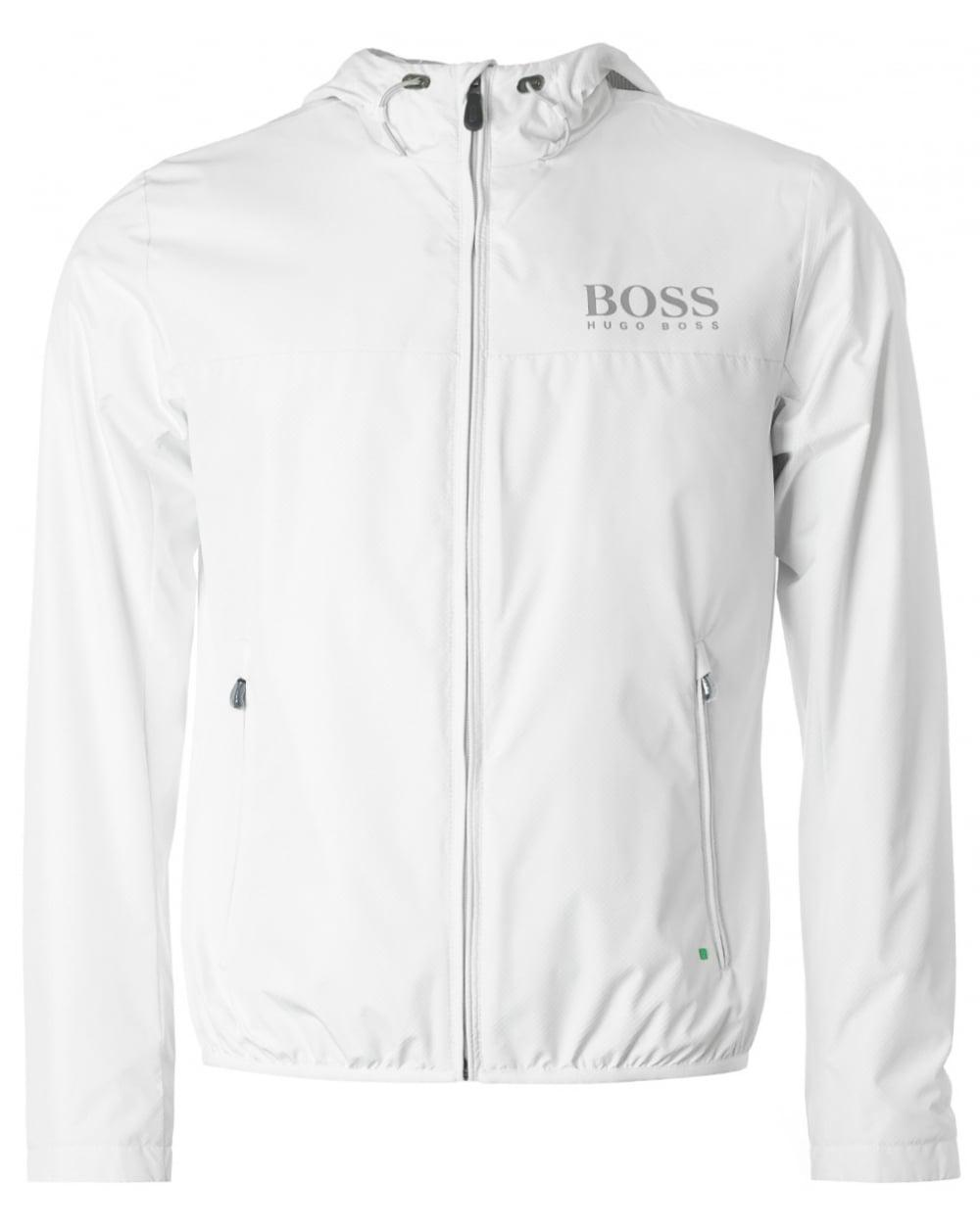 90ae26c29f30 BOSS Athleisure Jeltech Reflective Logo Hooded Jacket in White for ...