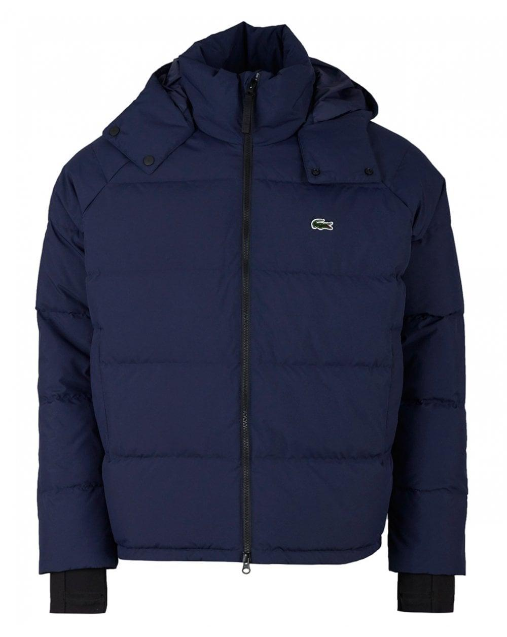 54704ed4d7 Lacoste L!ive Quilted Hooded Jacket in Blue for Men - Lyst