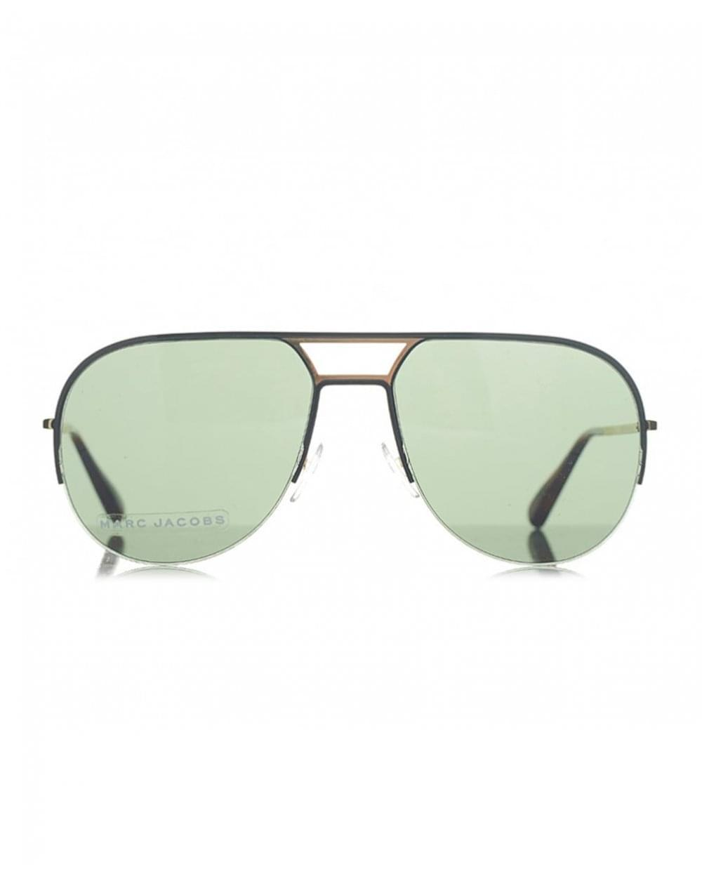 690c8ed64c5b Lyst - Marc Jacobs Round Aviator Sunglasses in Metallic for Men