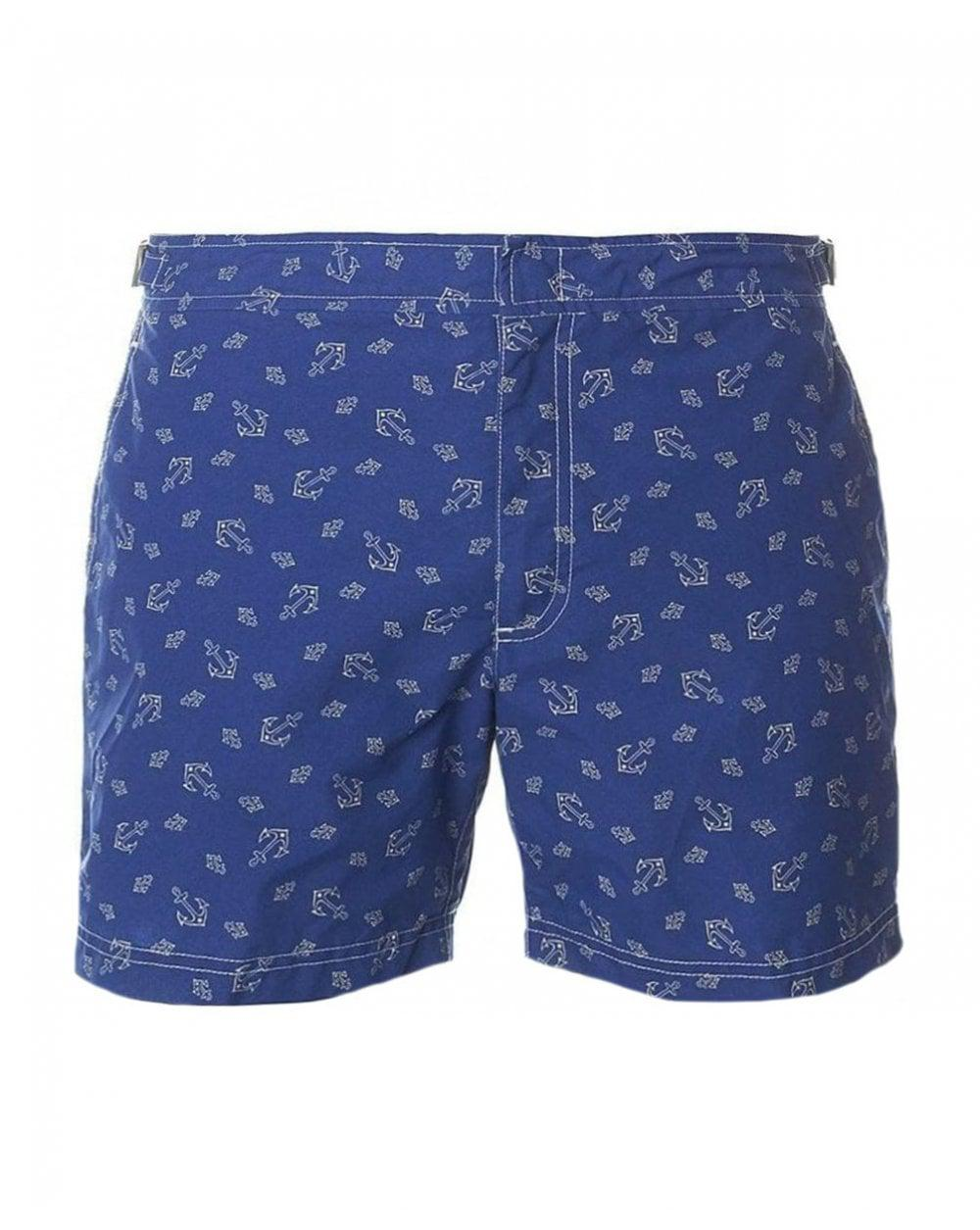 6b8e4da077e6e Polo Ralph Lauren Venice Anchor Print Swim Shorts in Blue for Men - Lyst