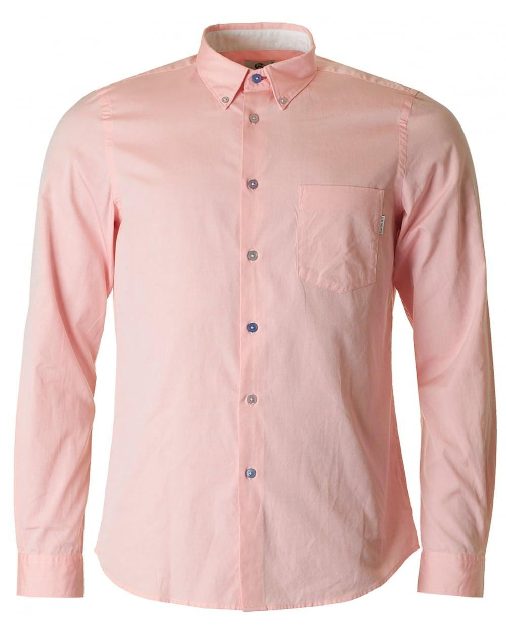 Lyst paul smith casual fit contrast button oxford shirt for Pink oxford shirt men