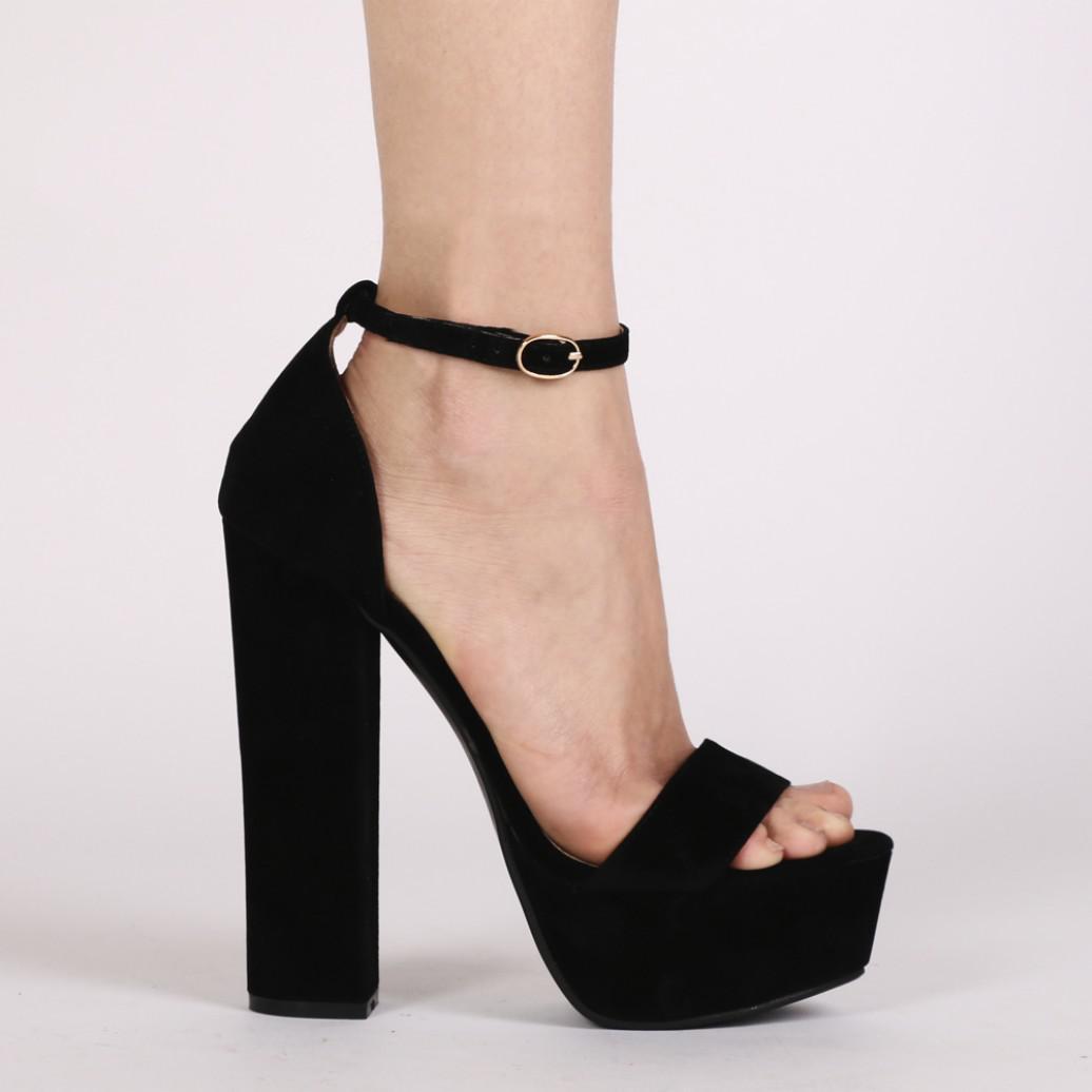 Public Desire EMPRESS - High heeled sandals - black