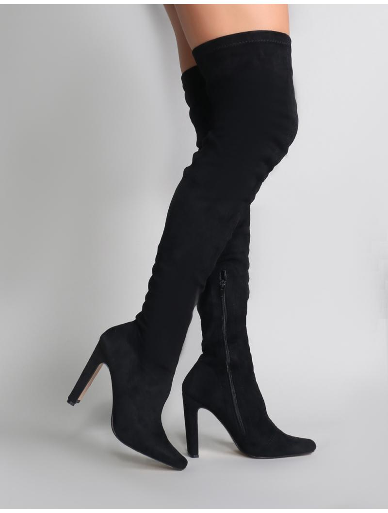 70b3c46812d Lyst - Public Desire Pernille Over The Knee Boots In Black in Black
