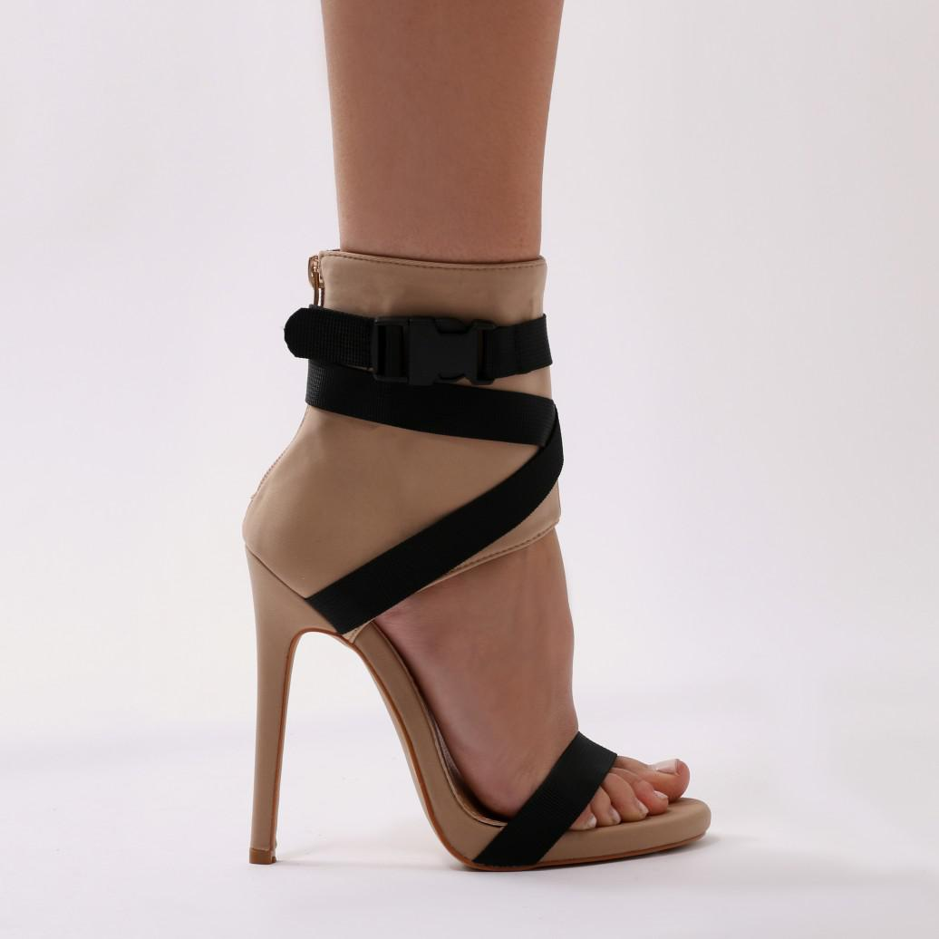 Public Desire Blade Sports Luxe Heels in and Black