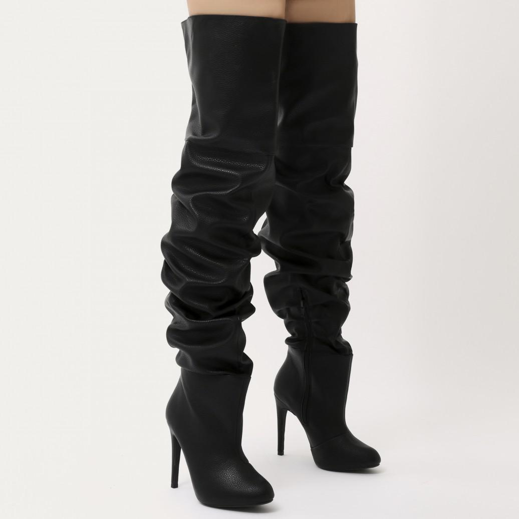8eecfe3d8d38 Public Desire Ciara Over The Knee Slouch Boots In Black in Black - Lyst