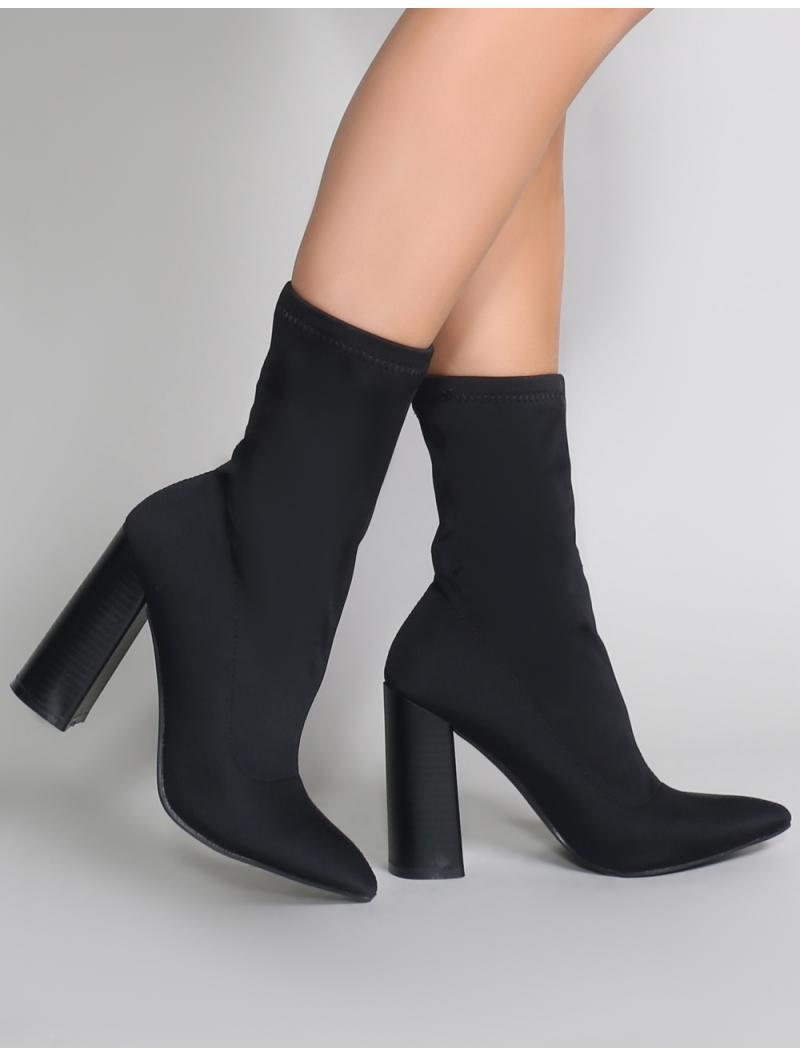 best authentic c9521 4e28b public-desire-black-Libby-Flared-Heel-Sock-Fit-Ankle-Boots-In-Black -Stretch.jpeg