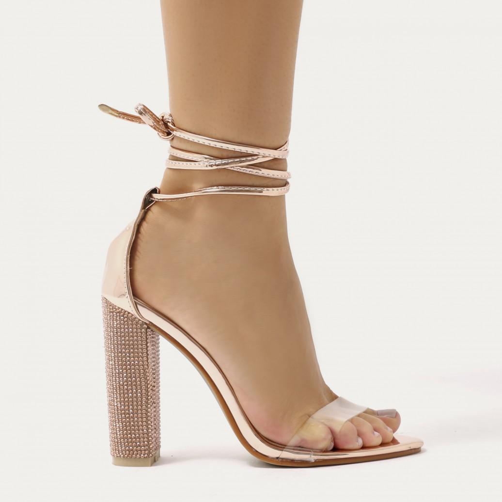 Public Desire Fatale Embellished Heeled Sandals aIt12Wa6xY