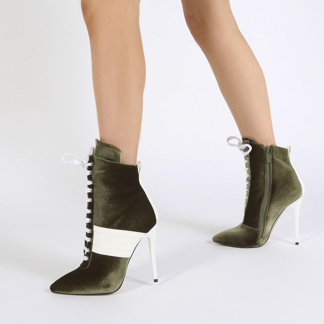 68424a42a7e5 Lyst - Public Desire Annika Lace Up Sport Stripe Ankle Boots In ...