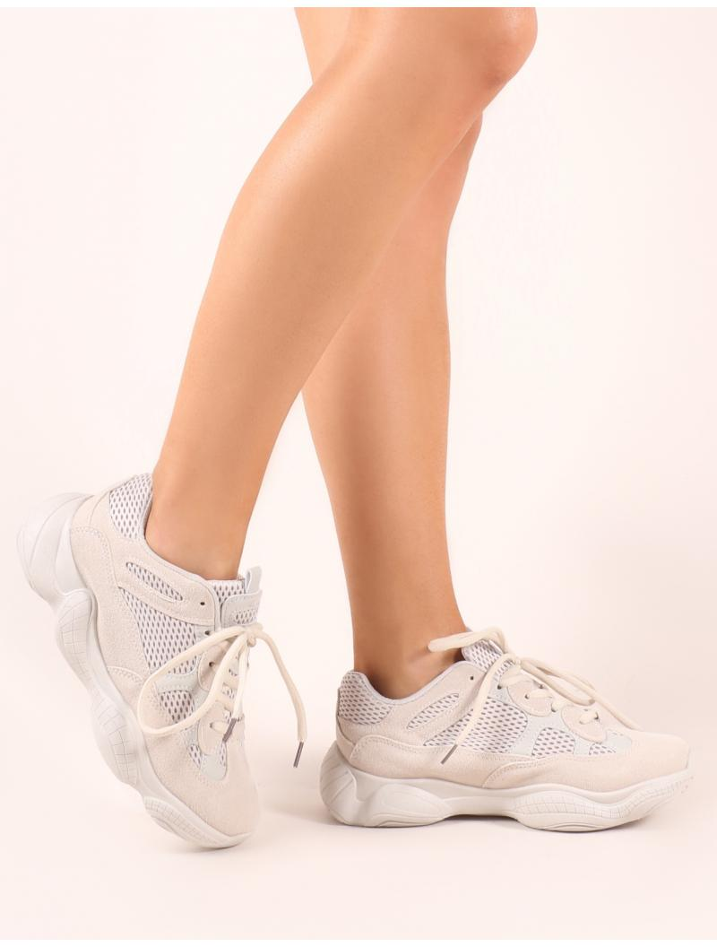 7f58e231407 Lyst - Public Desire Kaidee Chunky Trainers In Sand in Natural