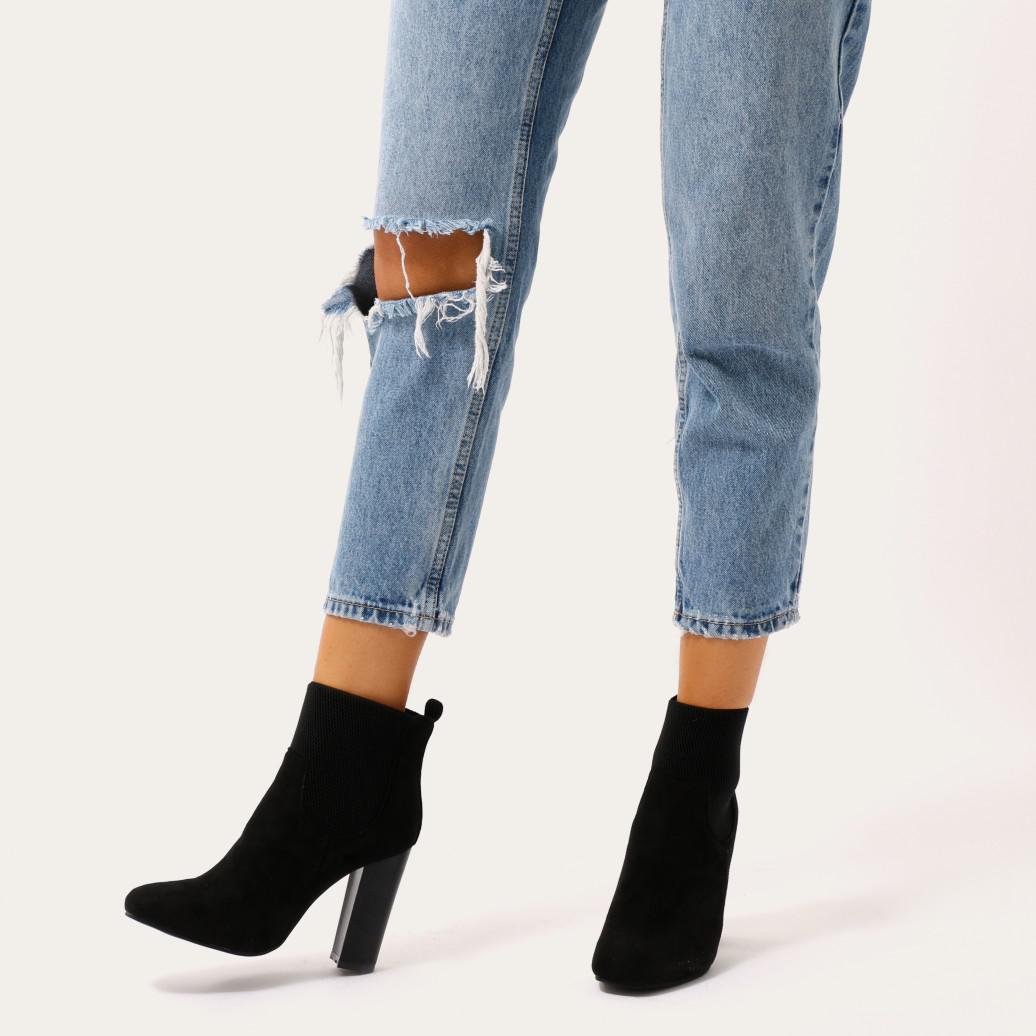 4c67ec983 Public Desire Hestia Block Heel Ankle Boots In Black Faux Suede in ...