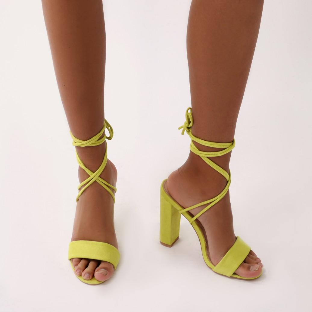 Public Desire Public Desire Eternal Round Block Heels Court Shoes Yellow with credit card cheap online XP2P0Qkm9