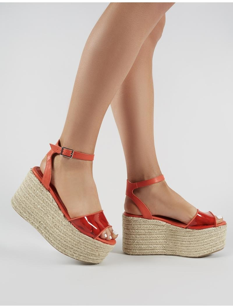 01f7b394ee5 Lyst - Public Desire Tarini Perspex Espadrille Flatform Sandals In ...