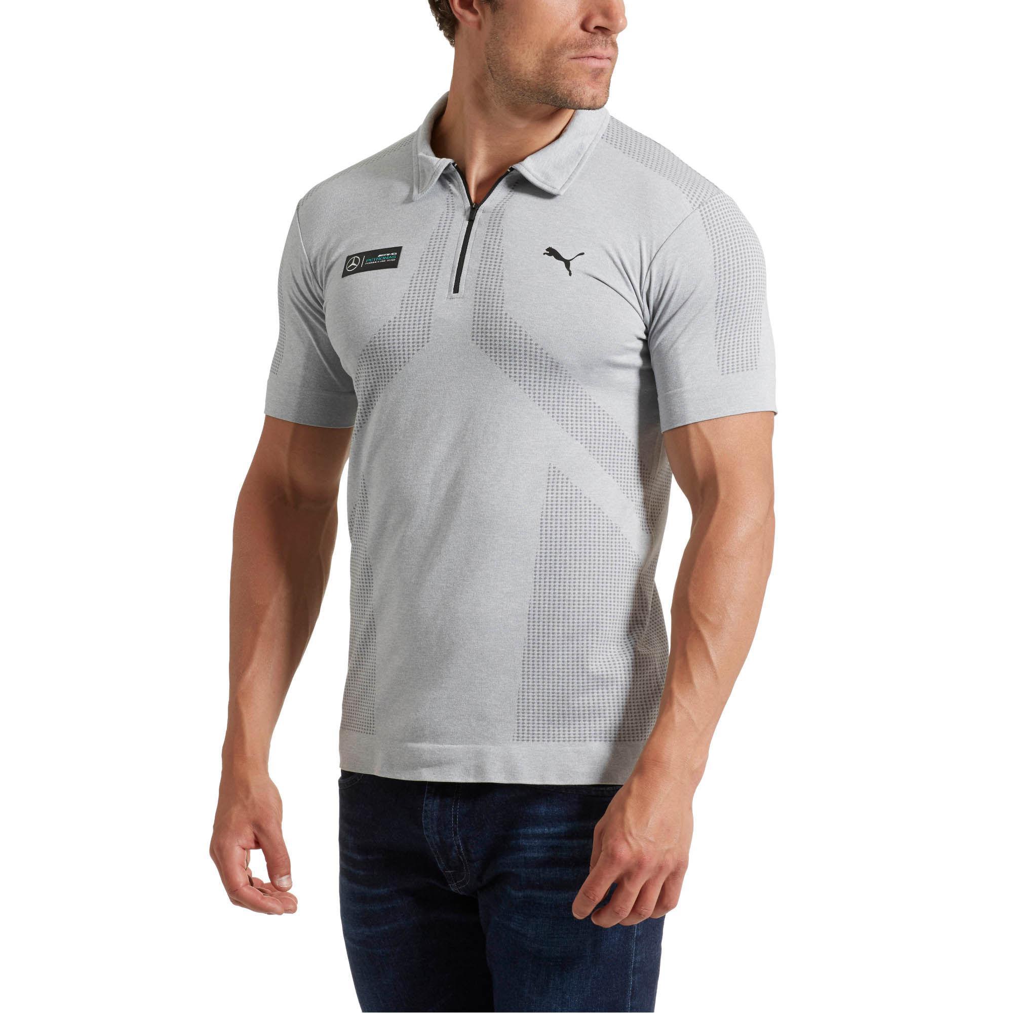 6cba97eb0 PUMA Mercedes Amg Petronas Evoknit Polo in Gray for Men - Lyst