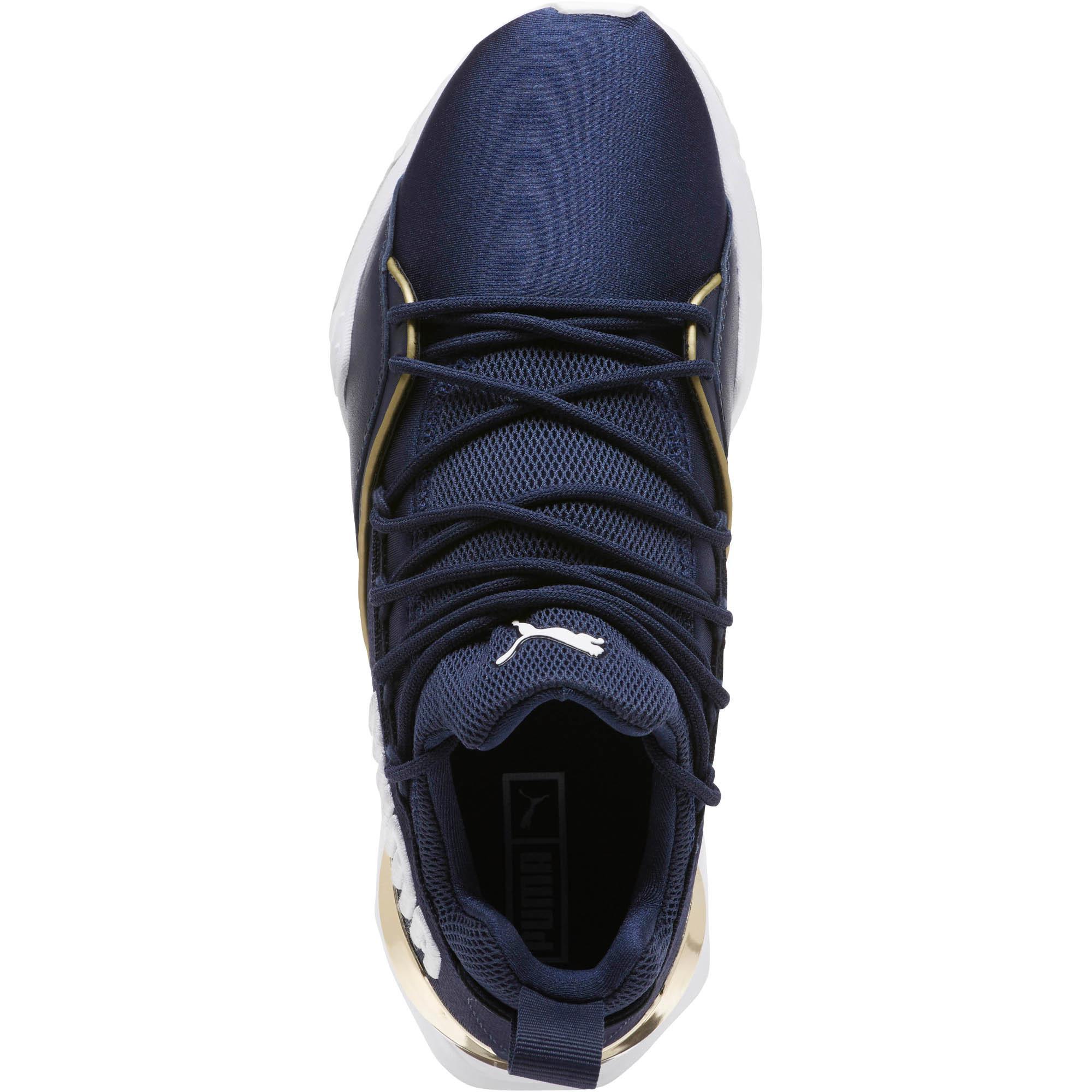 6cf95f3233d Lyst - PUMA Muse Maia Varsity Women s Sneakers in Blue