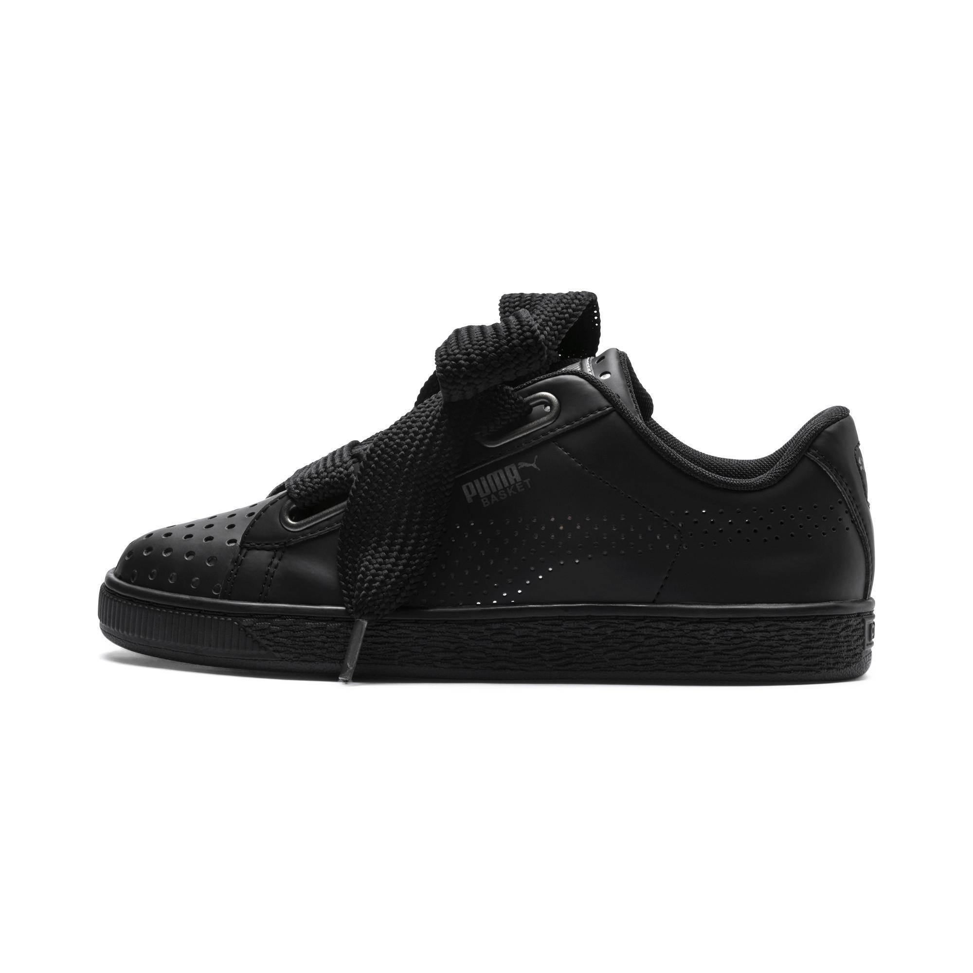 ec9198853693 Lyst - PUMA Basket Heart Lux Women s Sneakers in Black