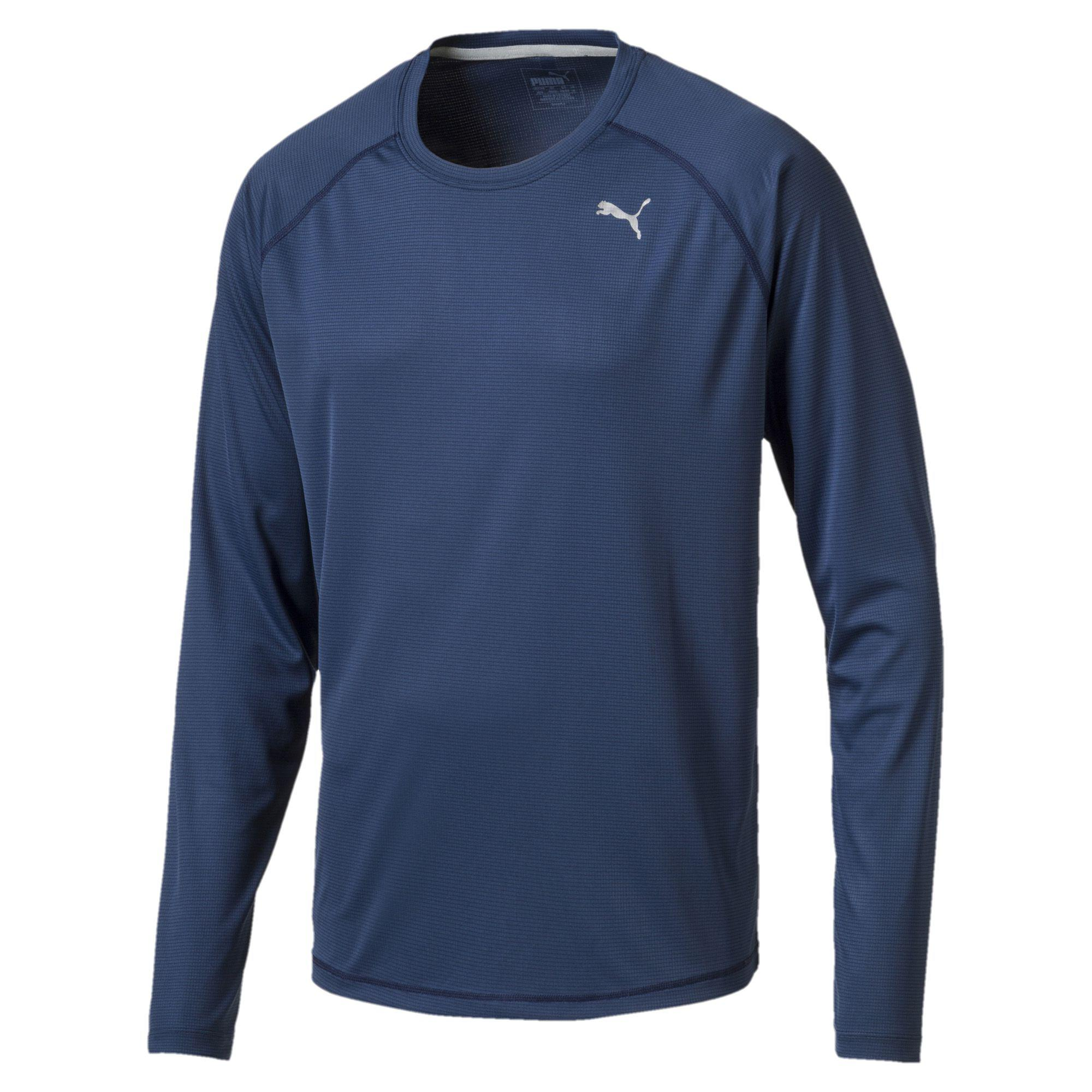 a0e06766ffa2 Lyst - PUMA Core-run Men s Long Sleeve Running Top in Blue for Men