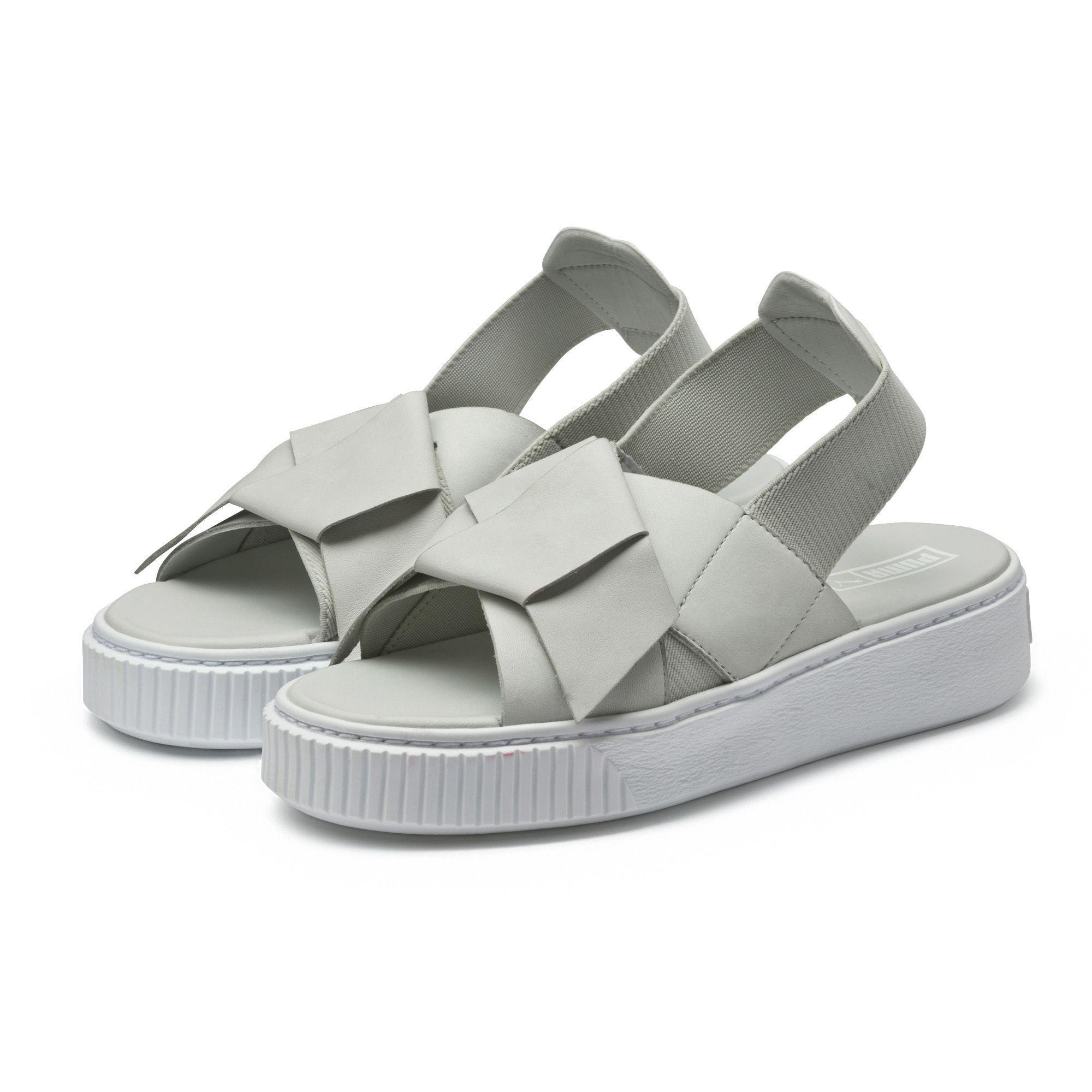 9f09cfa8e495 Lyst - PUMA Platform Leather Women s Sandals in Gray