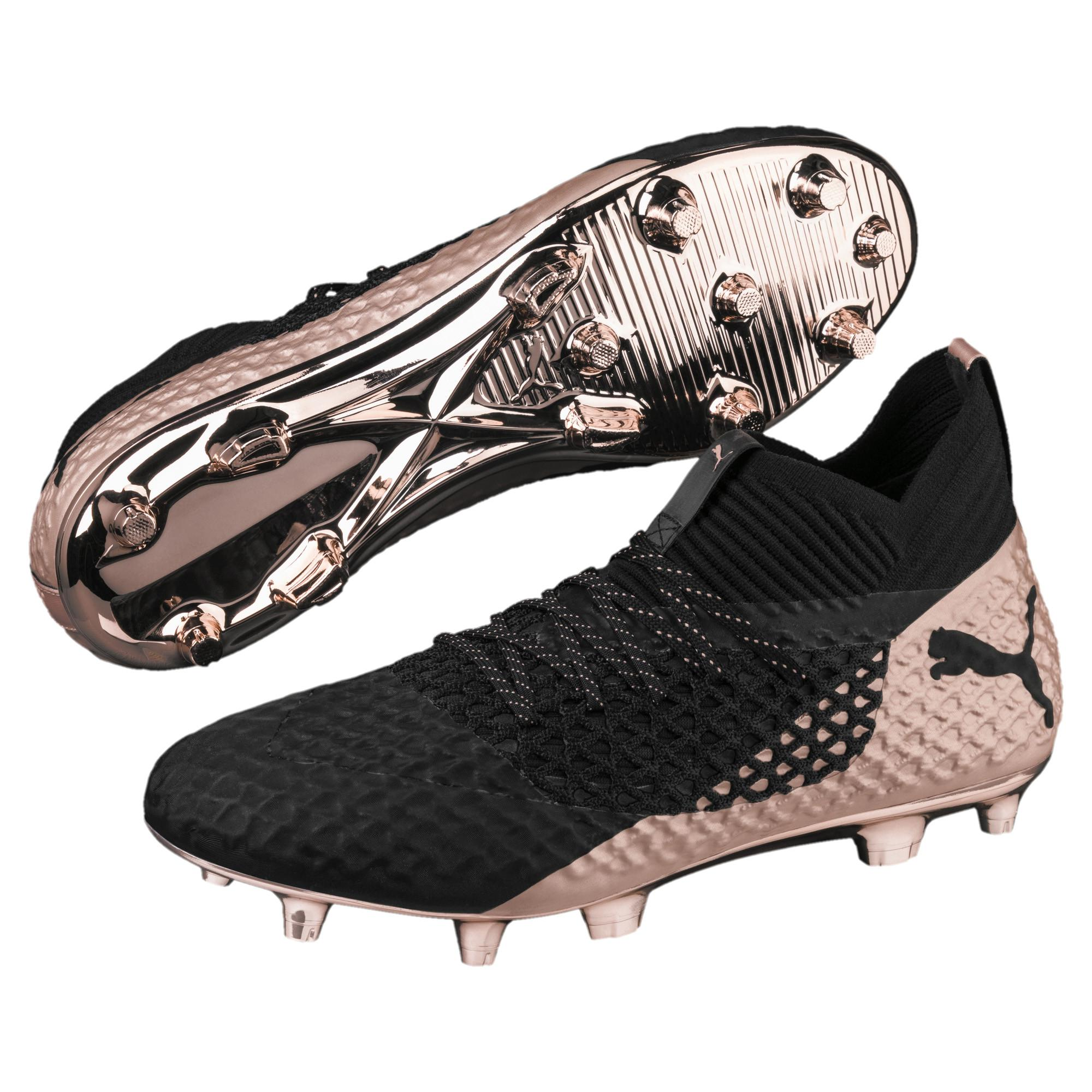 ae6465137 PUMA Future 2.1 Netfit Glo Fg ag Men s Soccer Cleats in Black for ...