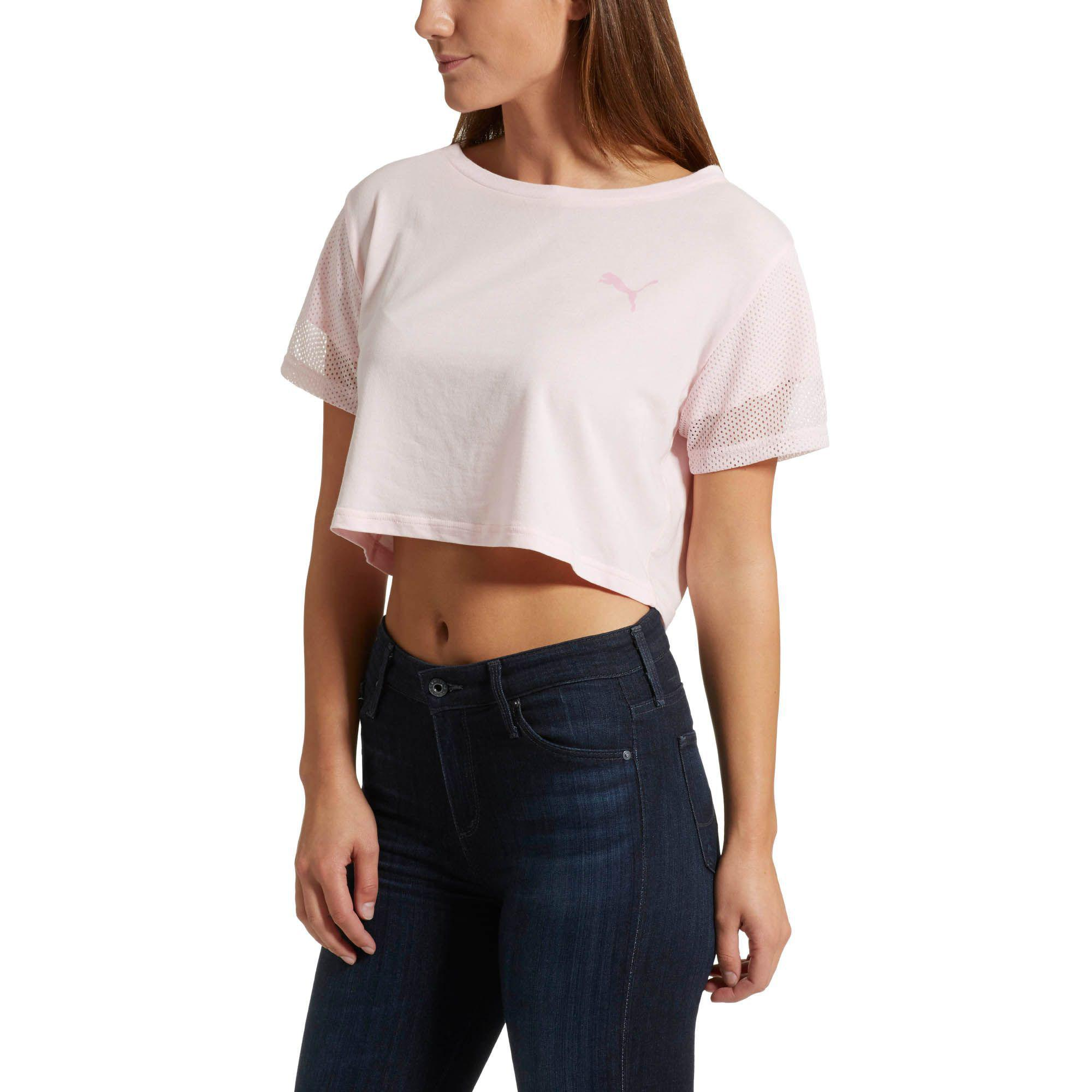 df55b325a5f PUMA Xtreme Relaxed Cropped Top in Pink - Lyst