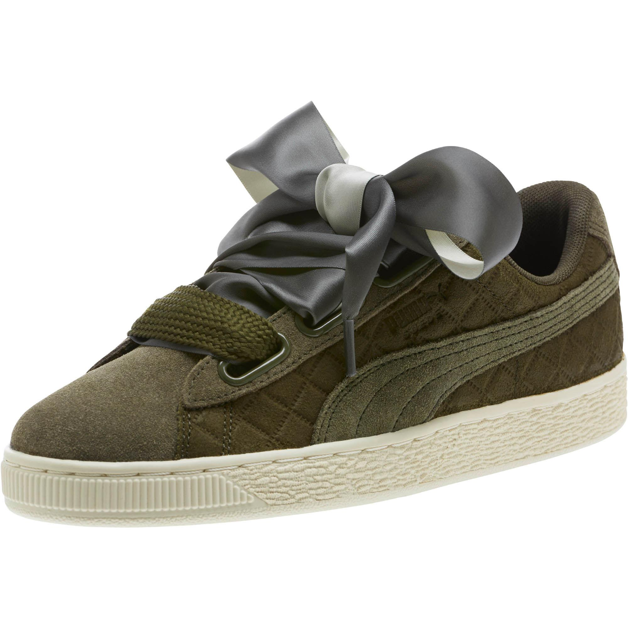 181b5061cc2fd6 Lyst - PUMA Suede Heart Quilt Women s Sneakers in Green
