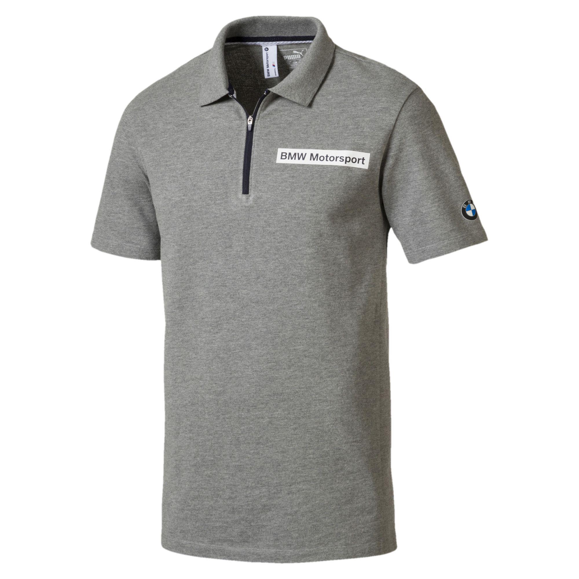 PUMA. Gray Bmw Motorsport Men's Polo Shirt