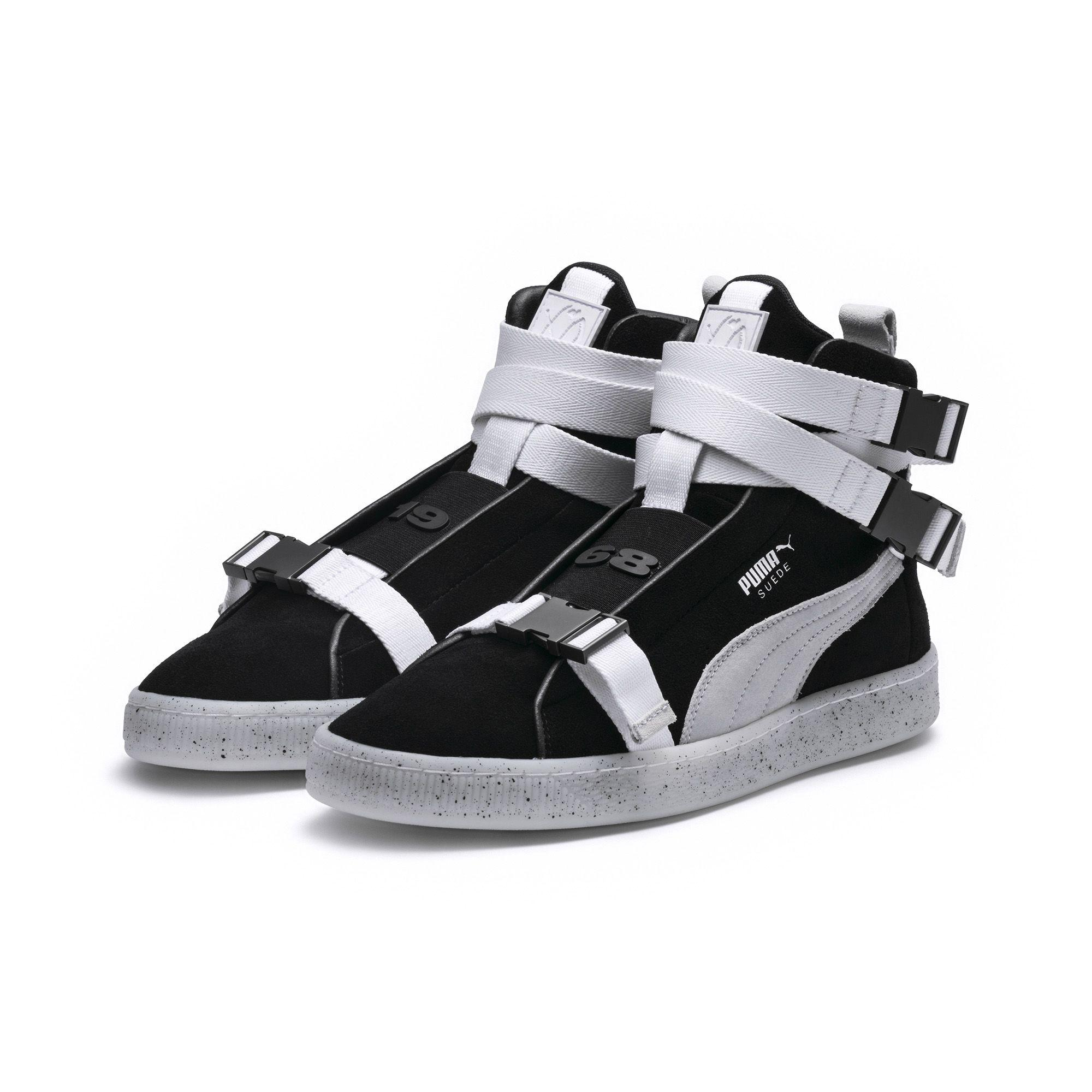 ef68263f2e7 picture of puma suede classic sneakers black wide varieties 8349c ...