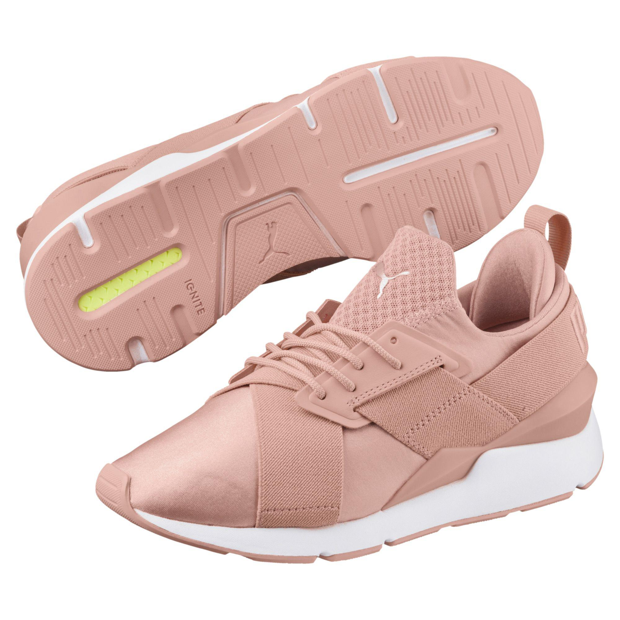 Lyst - PUMA Muse Satin Women s Sneakers in Pink 1f978982c