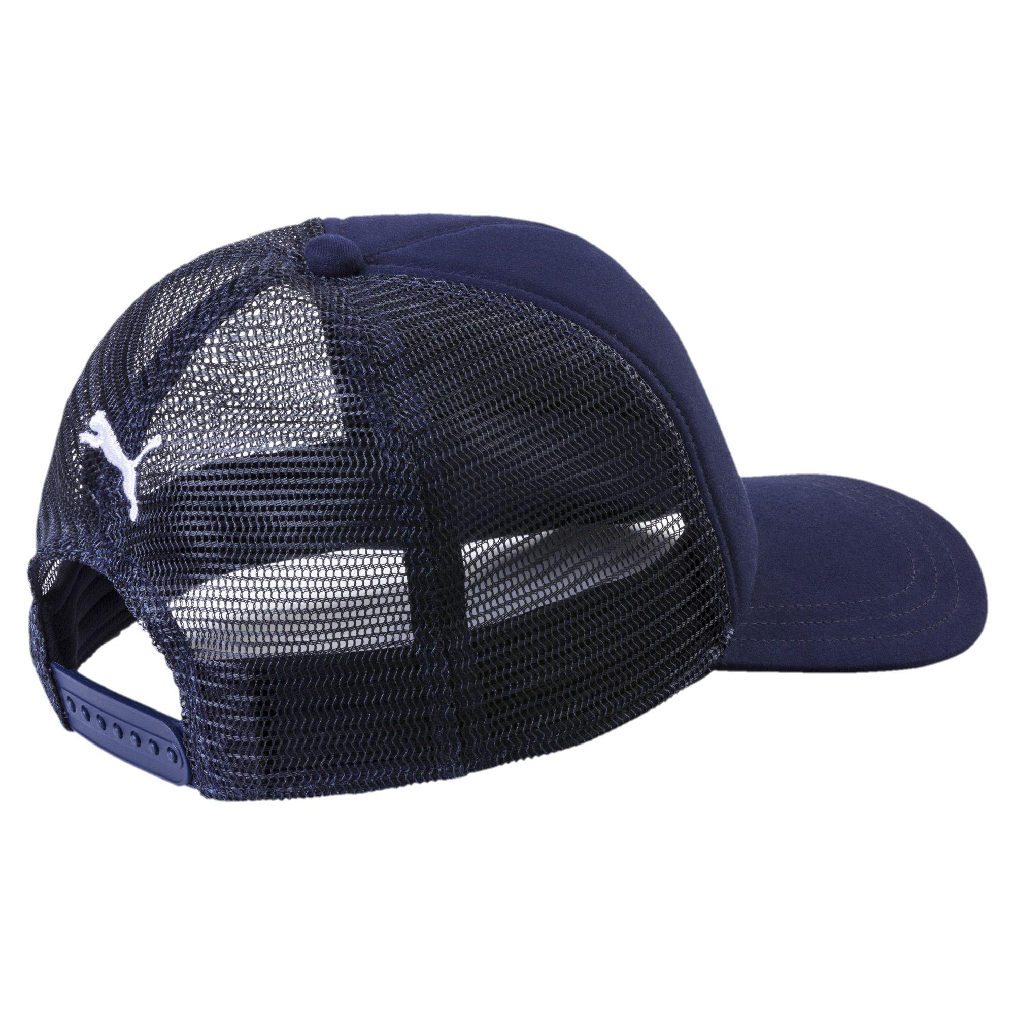 2613dff663c ... discount lyst puma style trucker hat in blue for men b1bdc 25ab8