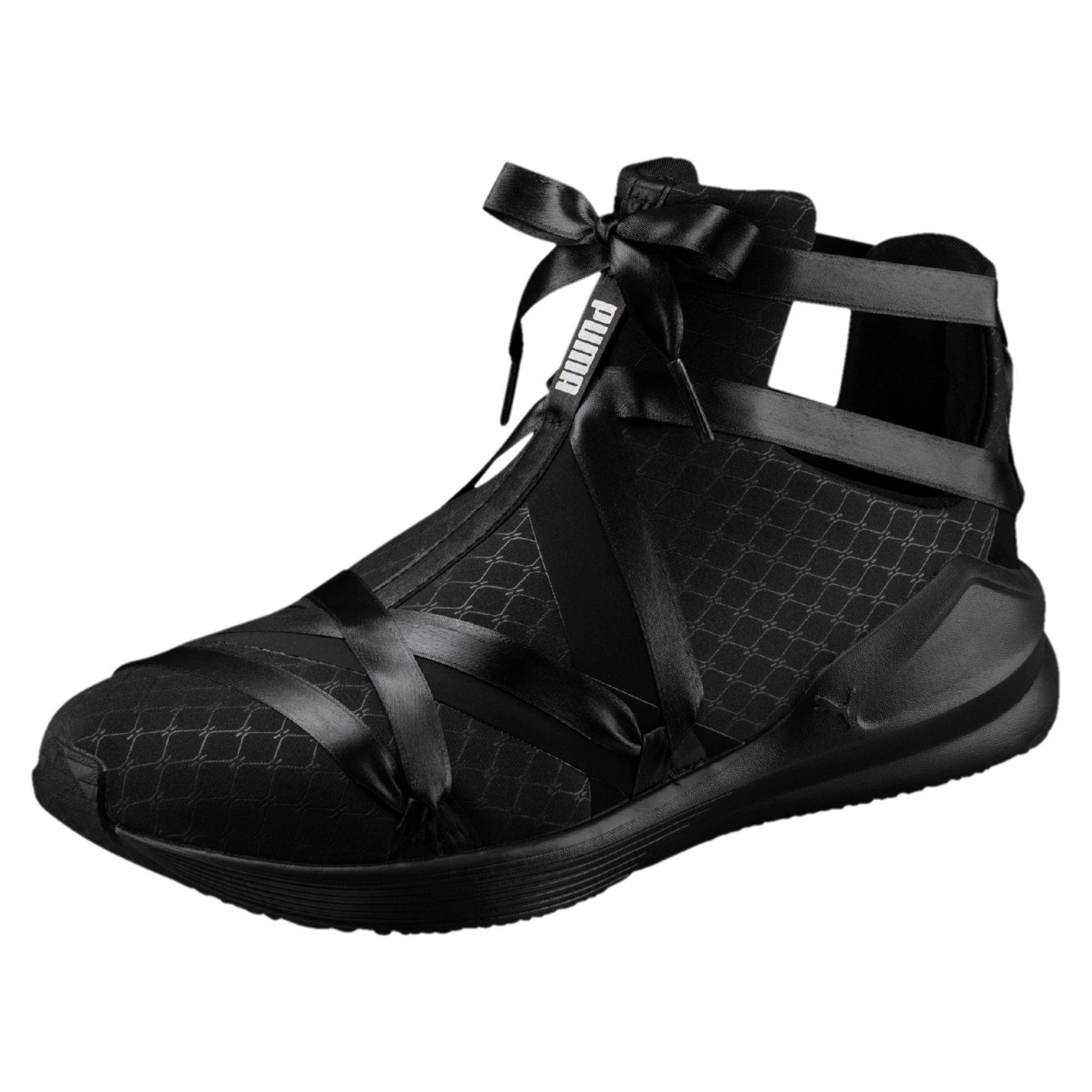 87658bf3d77c53 Lyst - PUMA Fierce Rope Satin En Pointe Women s Sneakers in Black