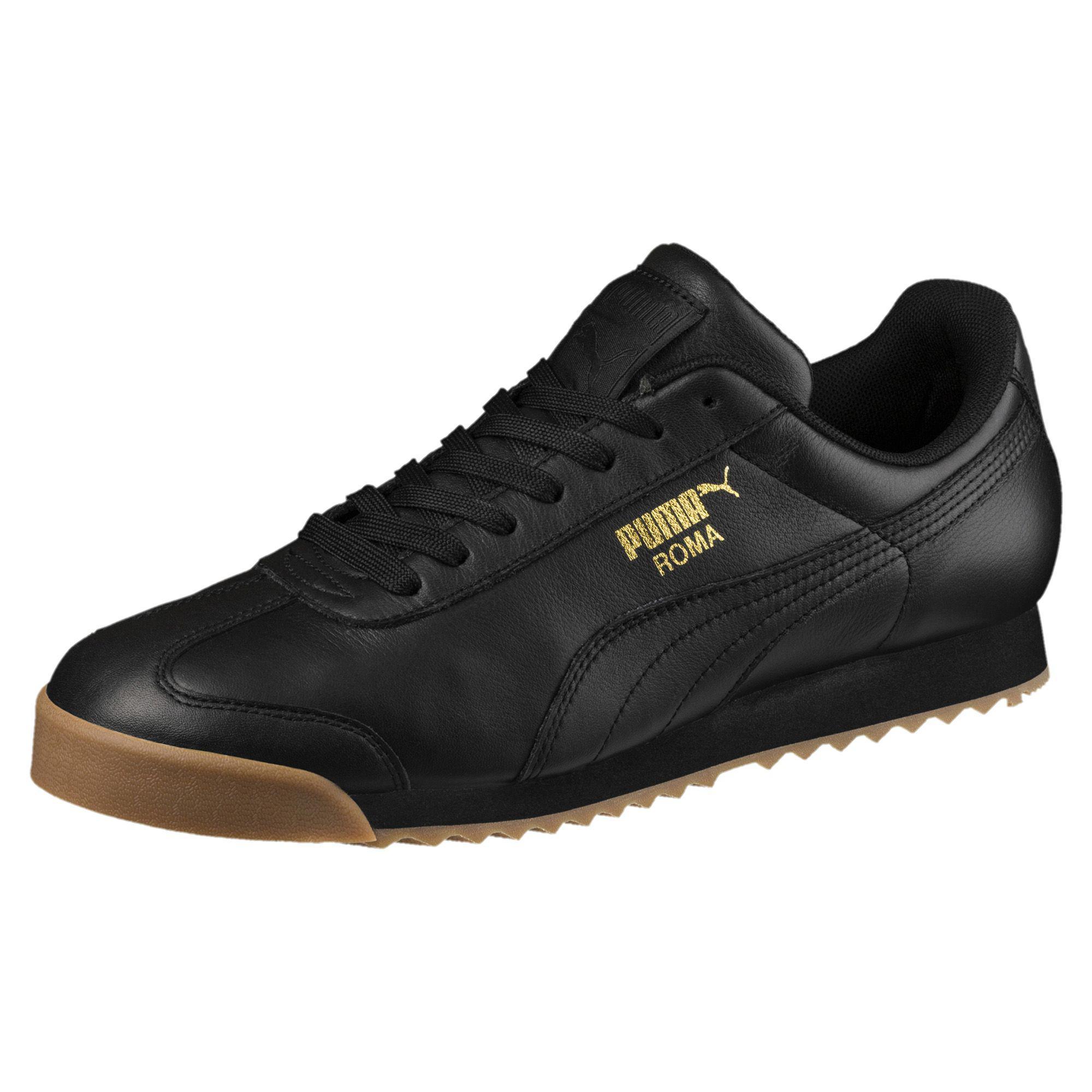 90ad4292385 Lyst - PUMA Roma Classic Gum Sneakers in Black for Men