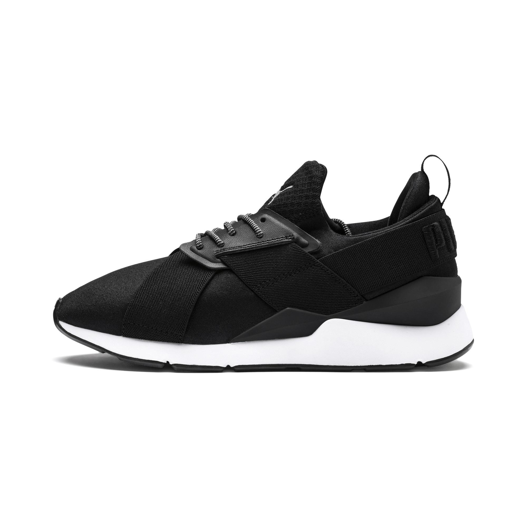 a1726c3543b9 Lyst - PUMA En Pointe Muse Satin Women s Sneakers in Black - Save 51%