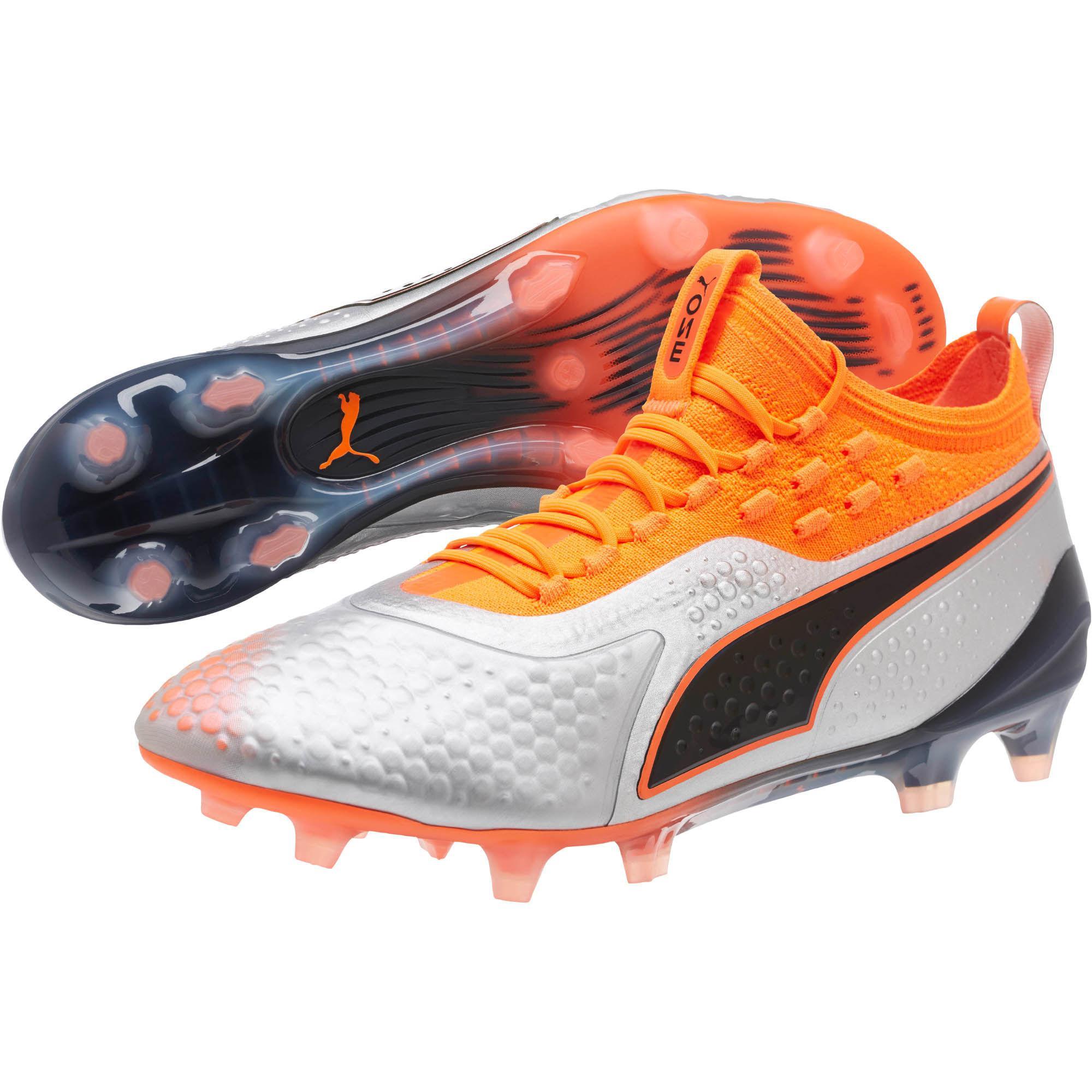 54ed1f81a631 PUMA - Orange One 1 Lth Mx Sg Footbal Shoes for Men - Lyst. View fullscreen