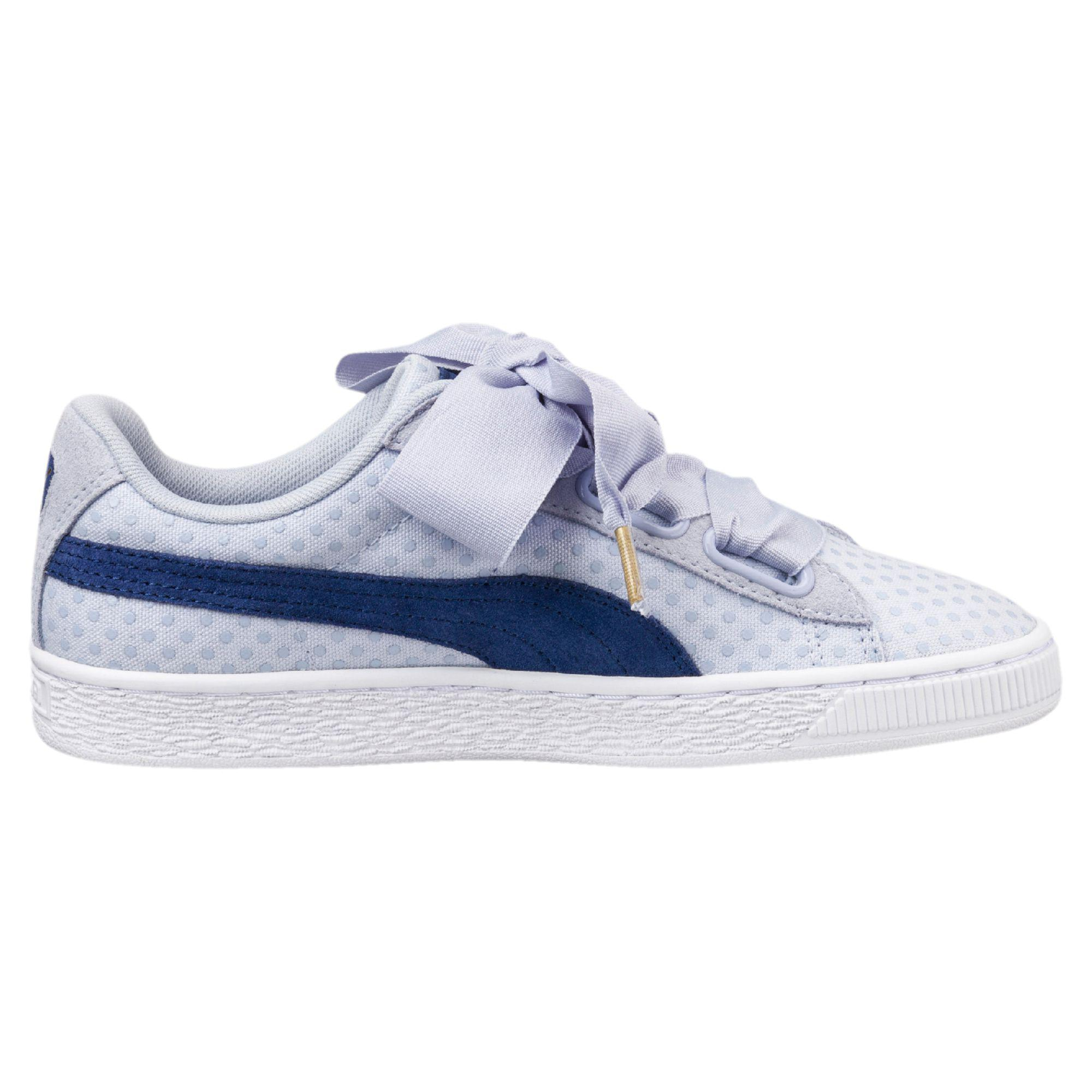 Lyst - PUMA Basket Heart Denim Women s Sneakers in Blue 35c8cdd91