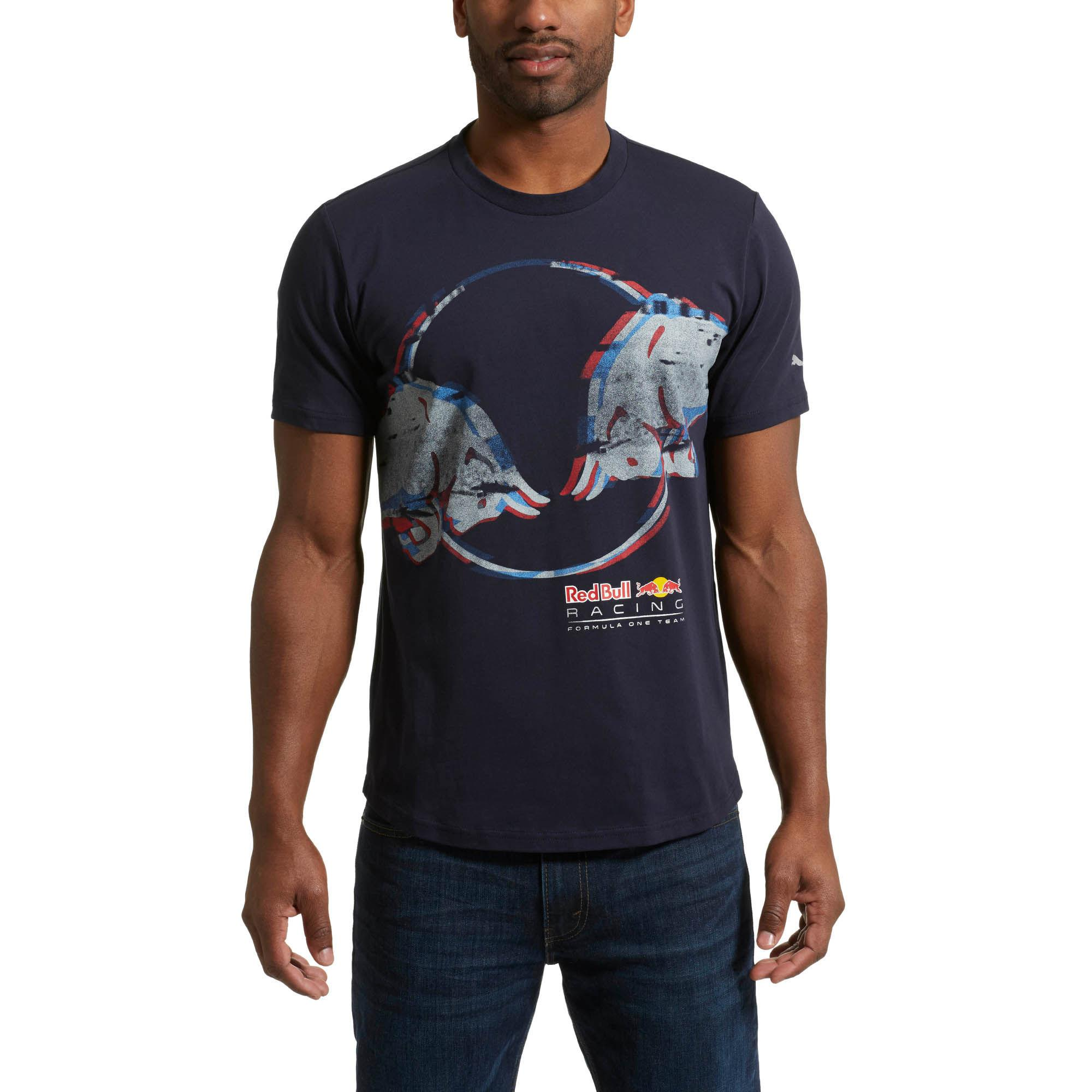 c518e87a16a PUMA Red Bull Racing Men's Double Bull T-shirt in Blue for Men - Lyst